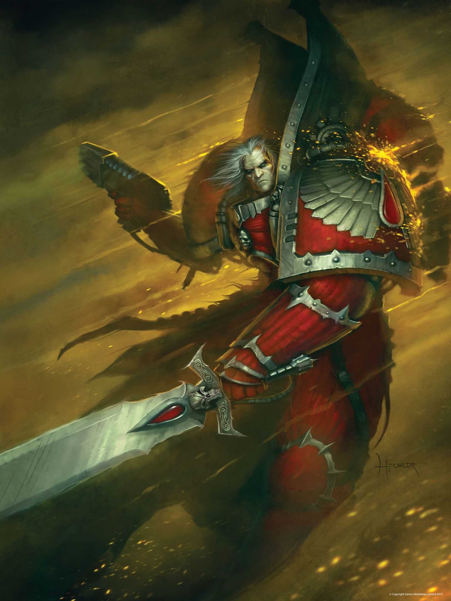 blood_angels bolter chief_librarian hardy_fowler imperium librarian  mephiston space_marines sword wallpaper Warhammer 40k …