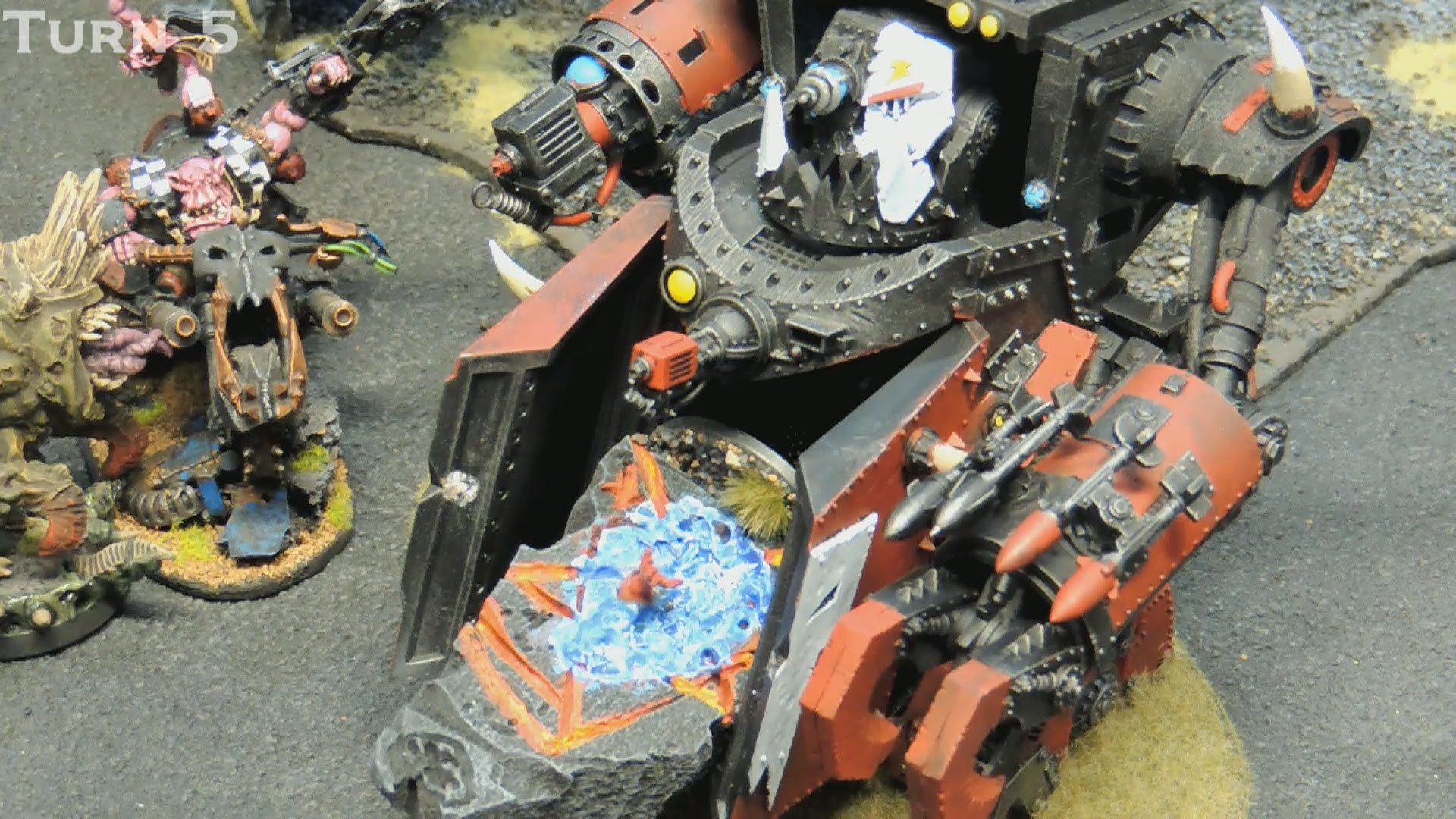 40k Doubles Battle Report- Orks vs Blood Angels & Chaos Space Marines