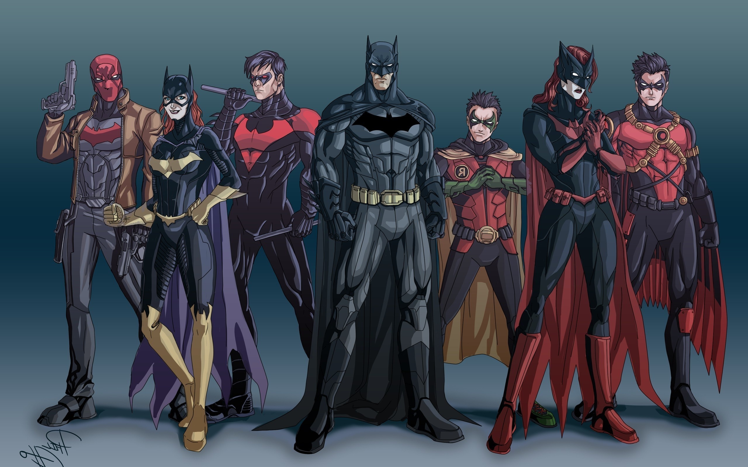Batman, Batwoman, Robin (character), Batgirl, Red Robin, Nightwing, Red  Hood Wallpapers HD / Desktop and Mobile Backgrounds
