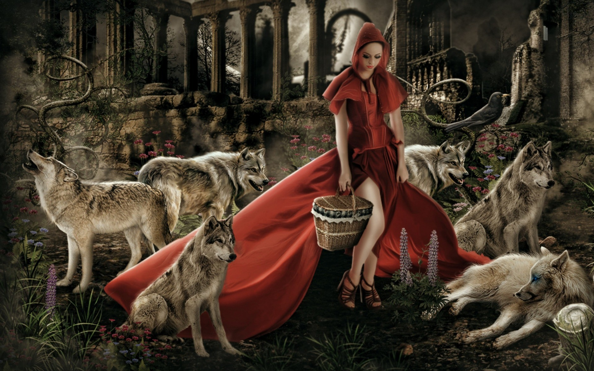 Red Riding Hood wallpapers and stock photos