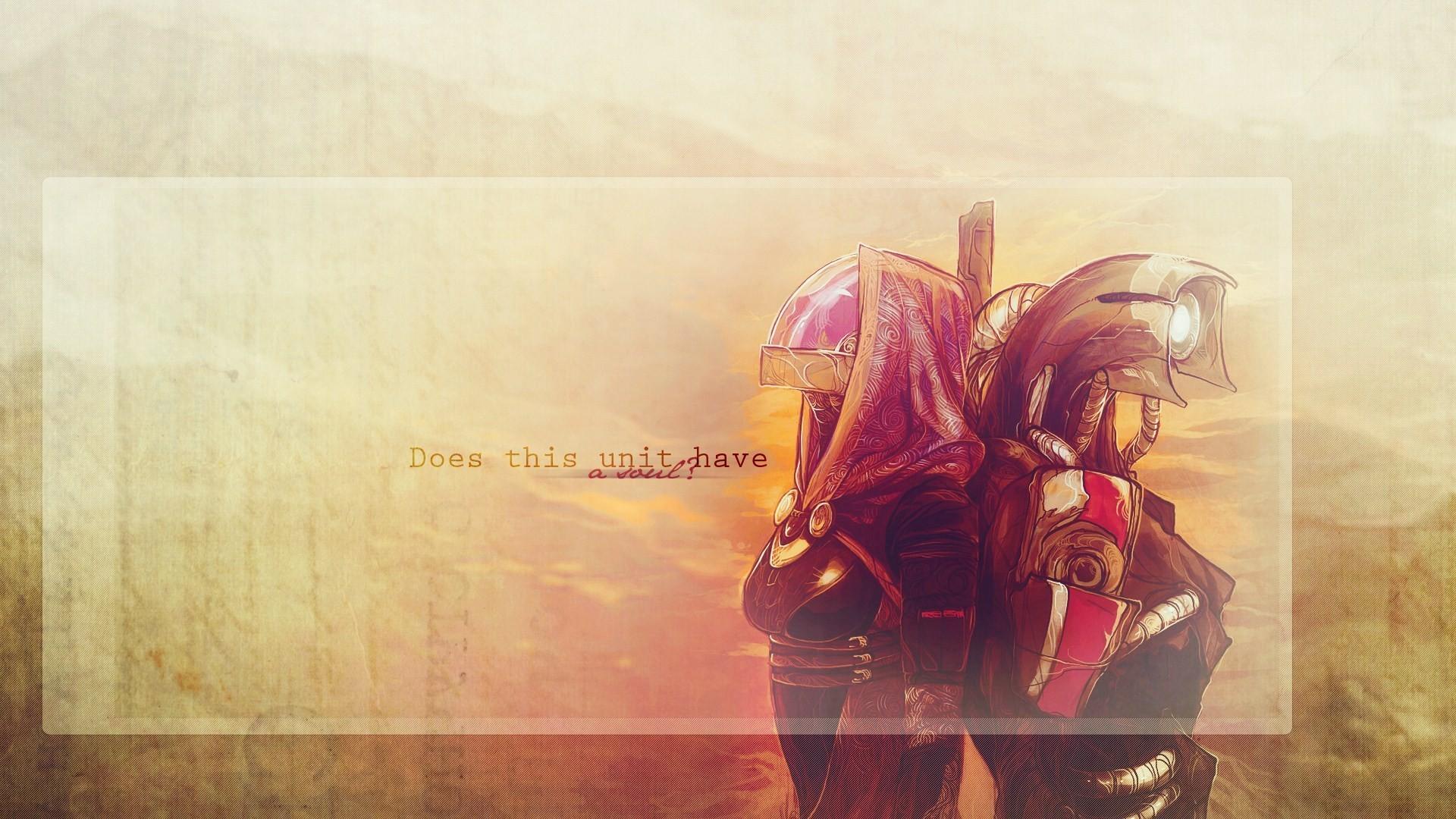 Mass Effect Tali Zorah Legion Video Game Artwork