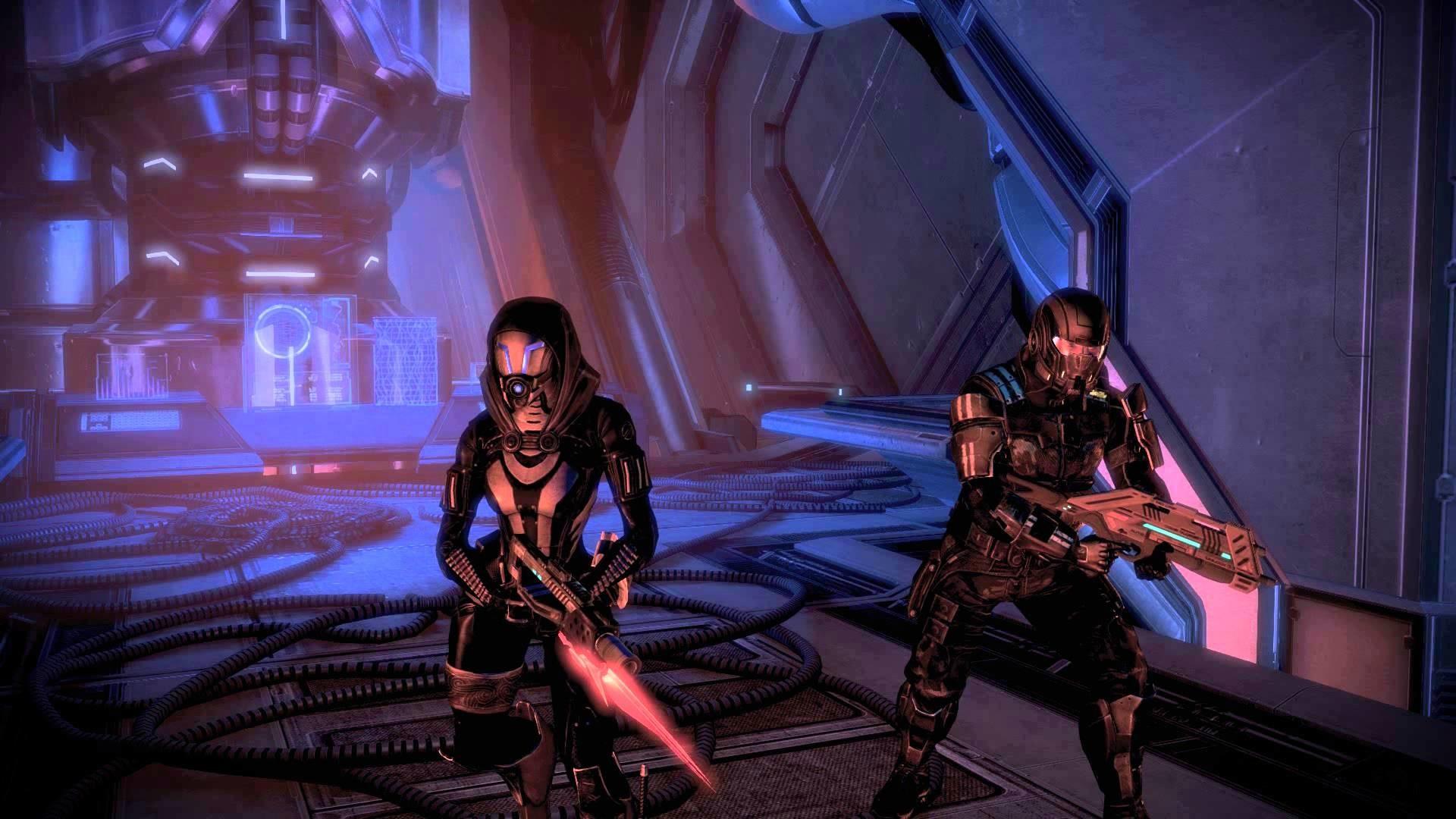 Mass Effect 3 Tali and Kaiden Ready for Battle Dreamscene Video Wallpaper