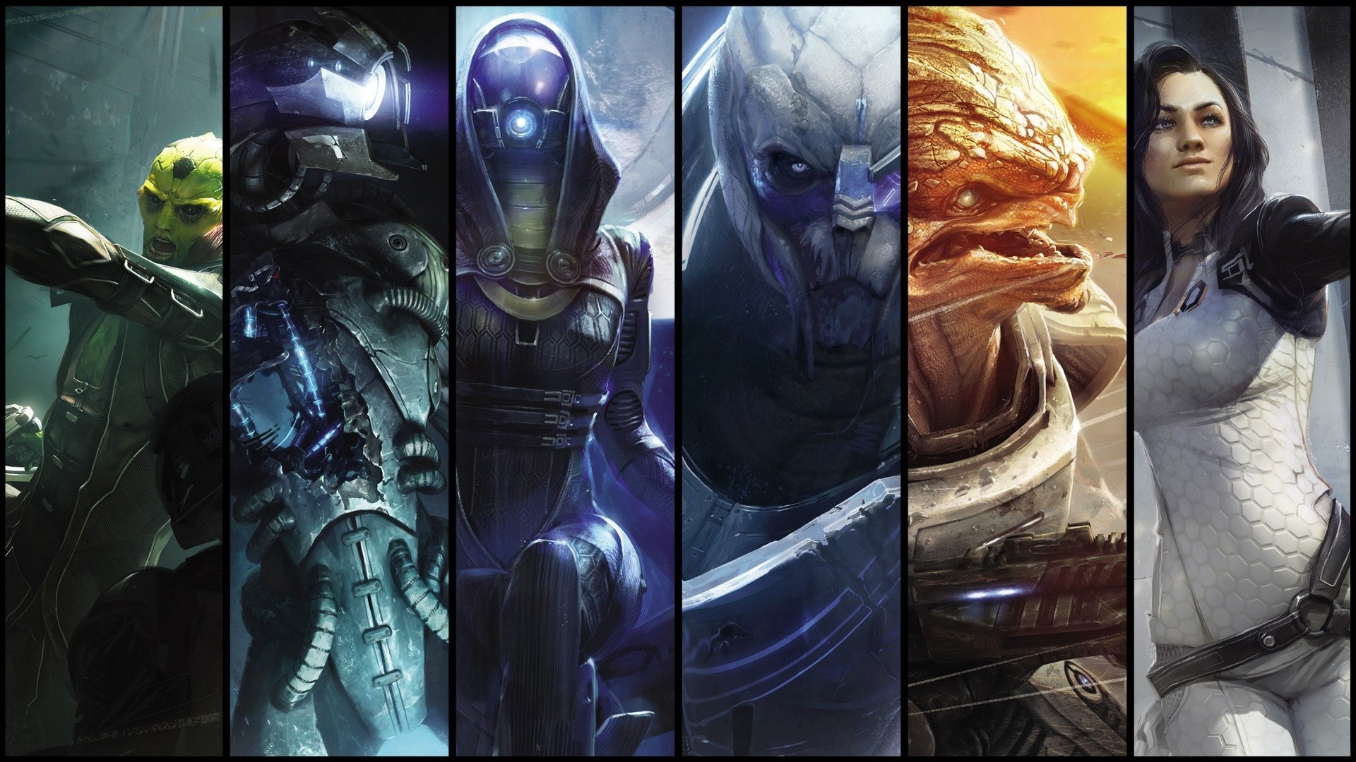 video games legion Mass Effect Miranda Lawson grunt Mass Effect 2 Garrus  Vakarian Thane Krios Tali