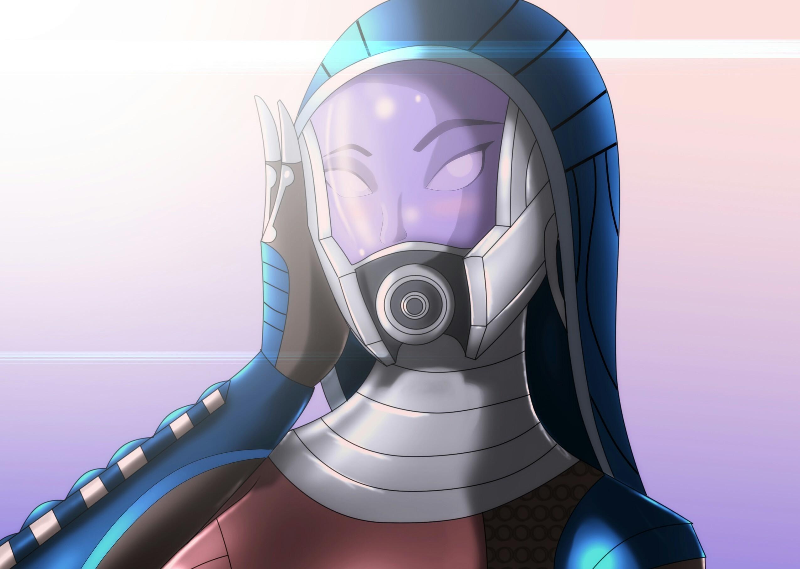 Wallpapers Mass Effect Tali Zorah Helmet Fantasy