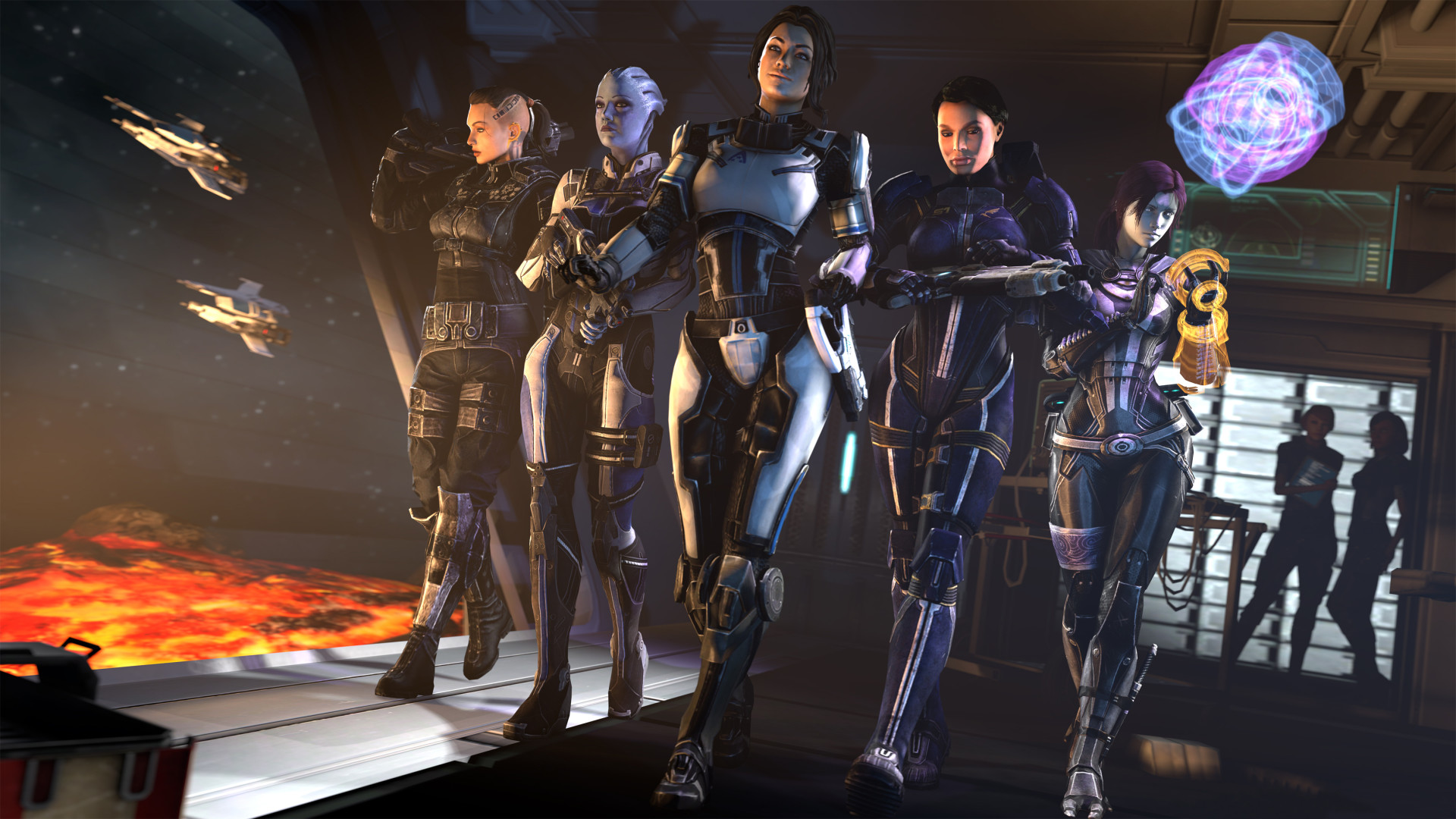 Video Game Mass Effect Ashley Williams Liara T'Soni Tali'Zorah Jack (Mass