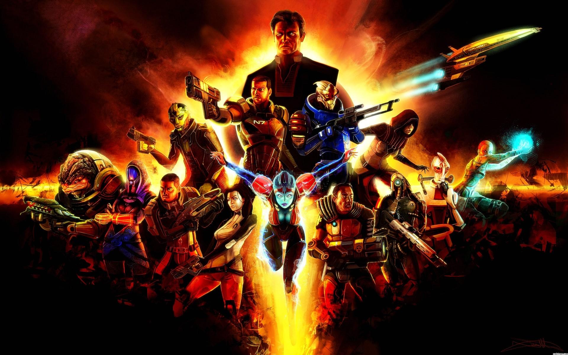 Video Game – Mass Effect 2 Legion (Mass Effect) Zaeed Massani Grunt (Mass