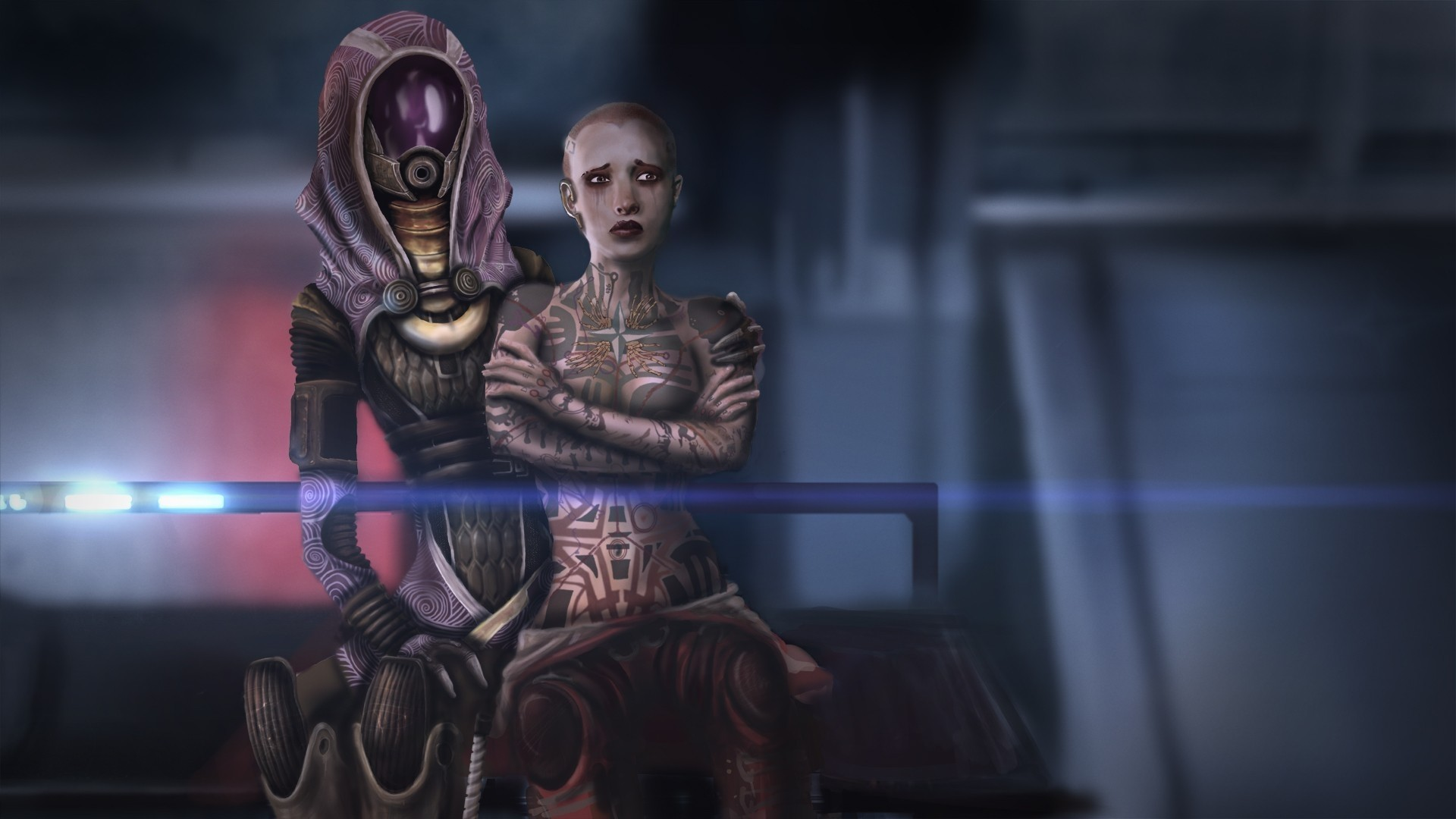 Wallpaper Mass effect, Jack, Hood, Look, Faces, Characters