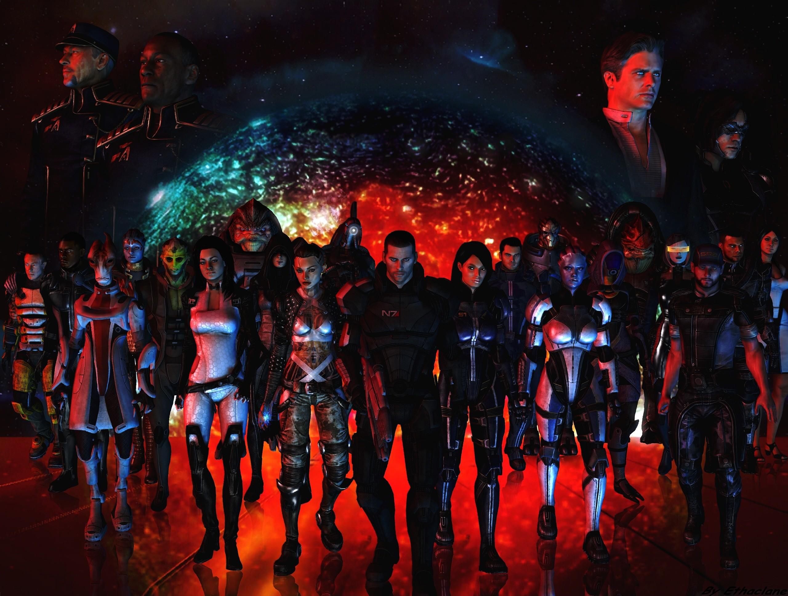 2560×1600 Miranda Lawson, Mass Effect, Star, Girl, Weapons, Fan .