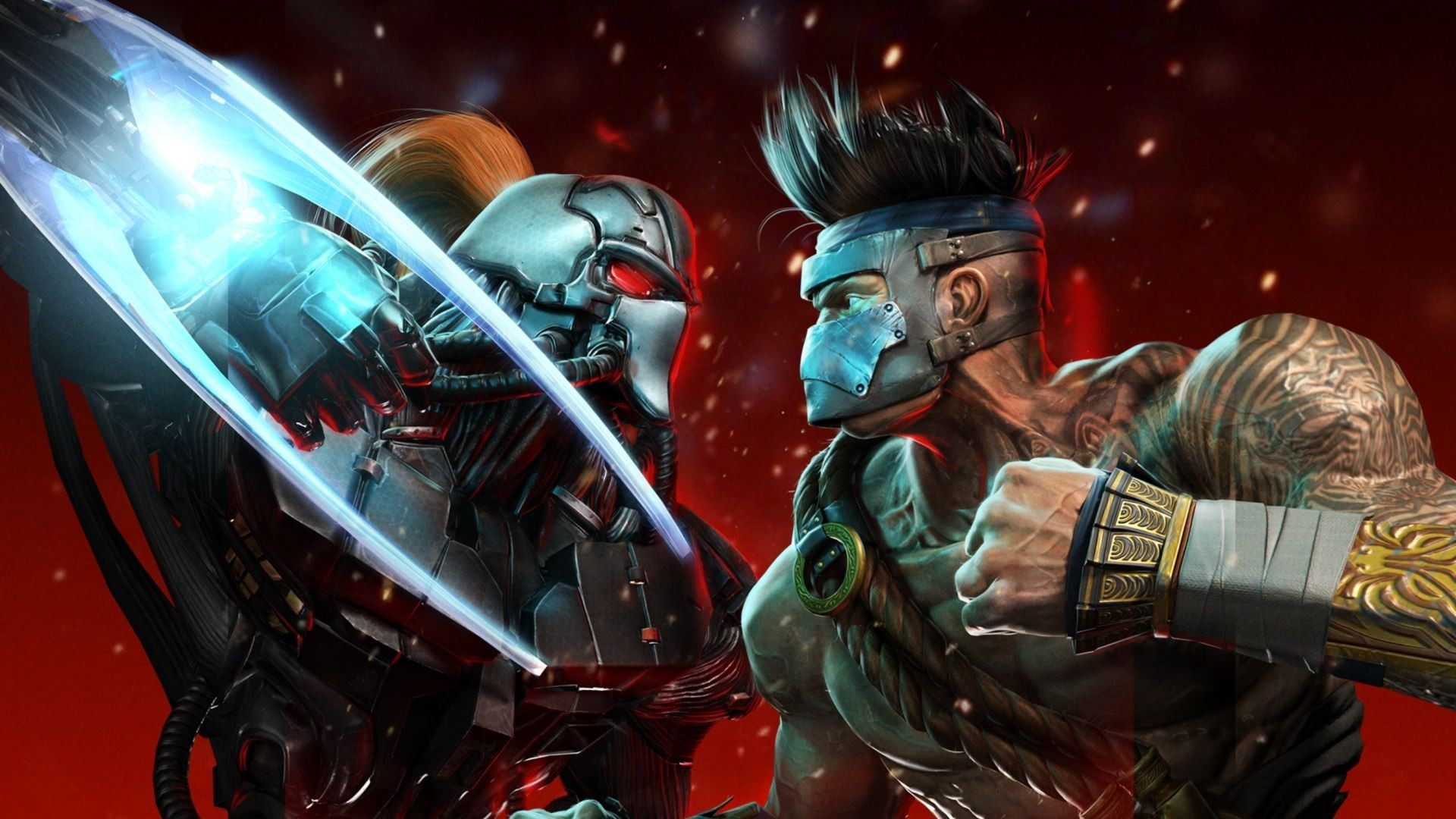 Preview wallpaper killer instinct, fulgore, fighters, battle, characters,  cyborg, fight