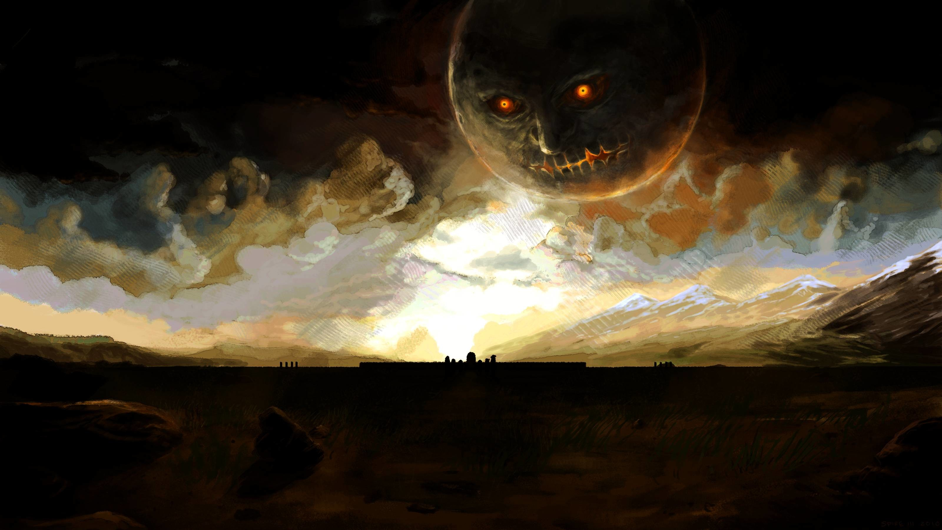 An awesome Majora's Mask wallpaper I found …
