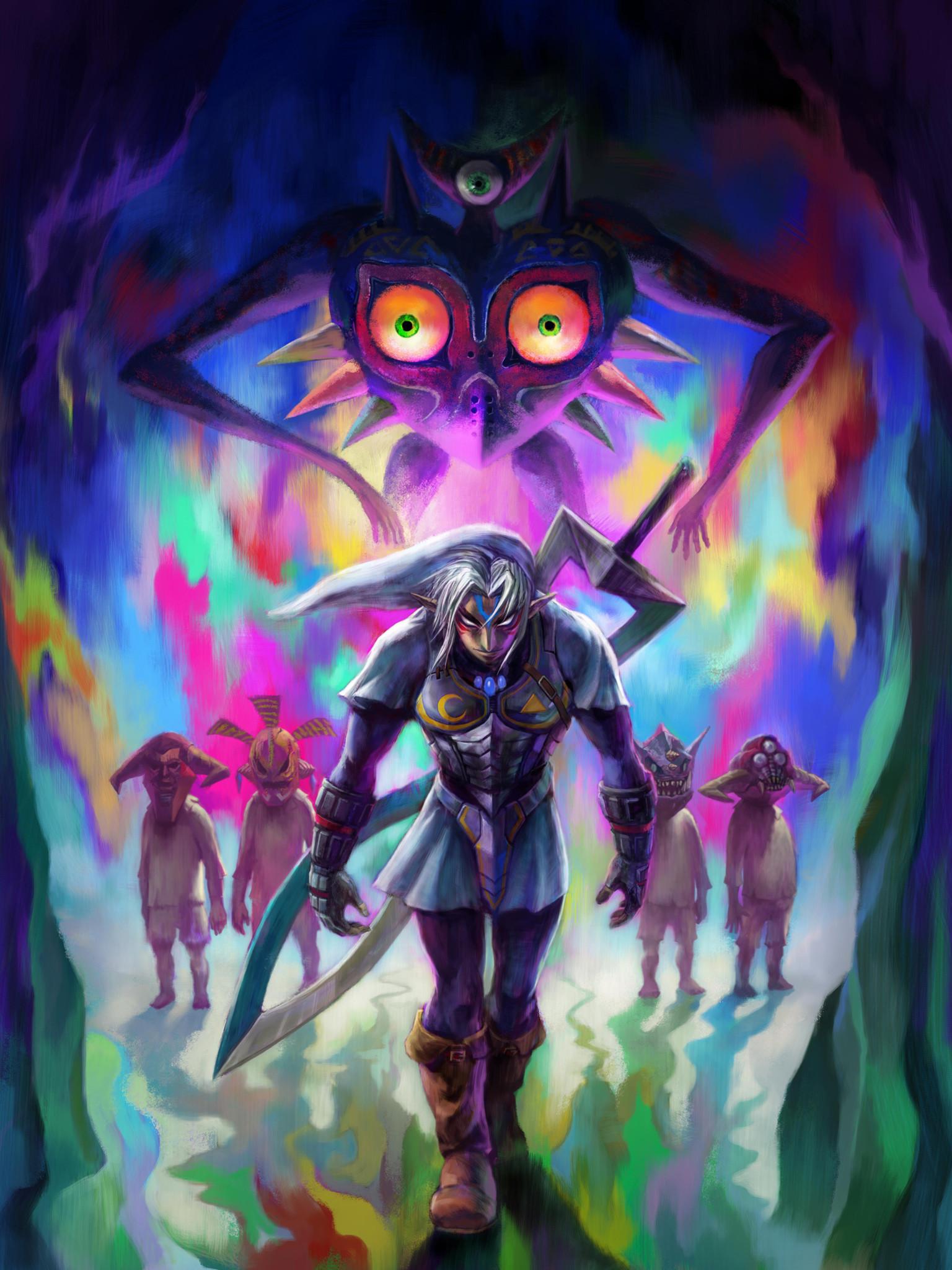 Majora's Mask Tablet Wallpaper Fierce Deity Link …