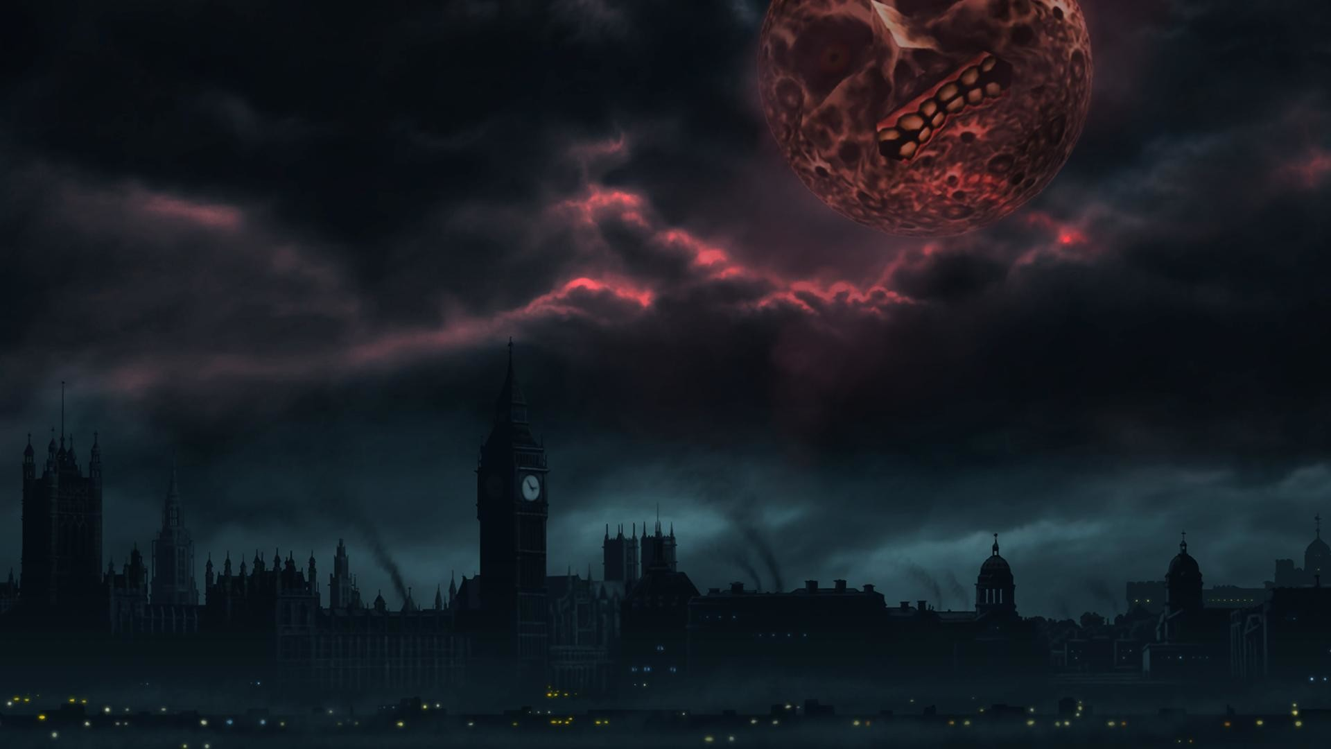 Made a London themed Majora's Mask wallpaper because end of the world and  all that …
