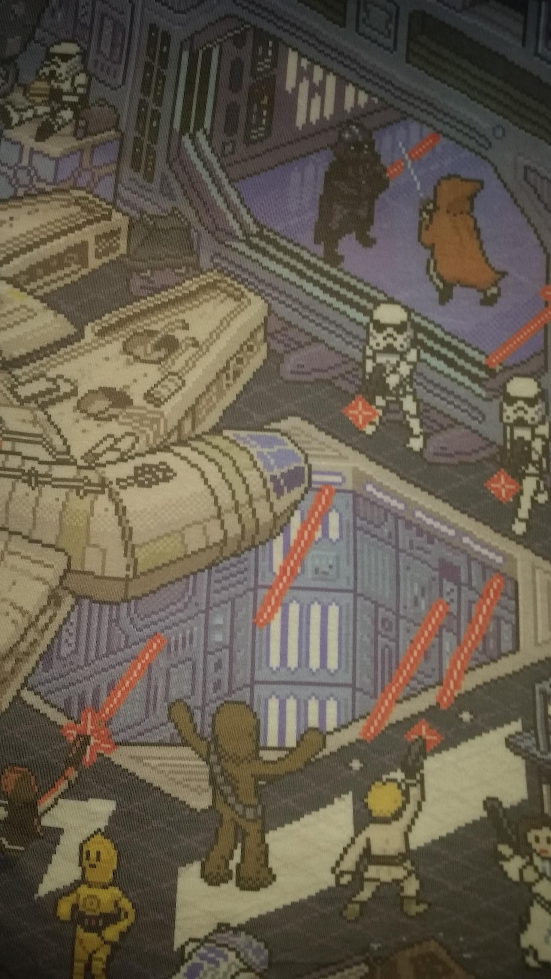 16-bit phone wallpaper. Vader vs.