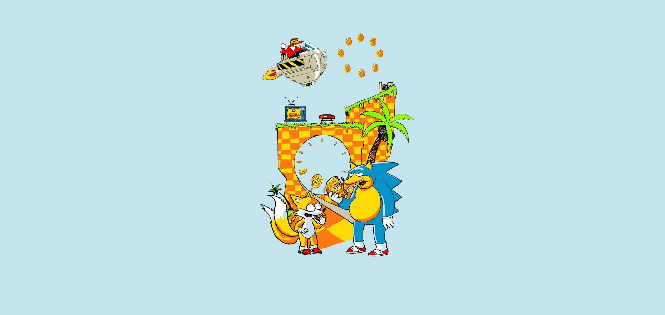 sonic sonic snickering donuts sega mega drive 16 bit sega a prefix game  childhood nostalgia hedgehog