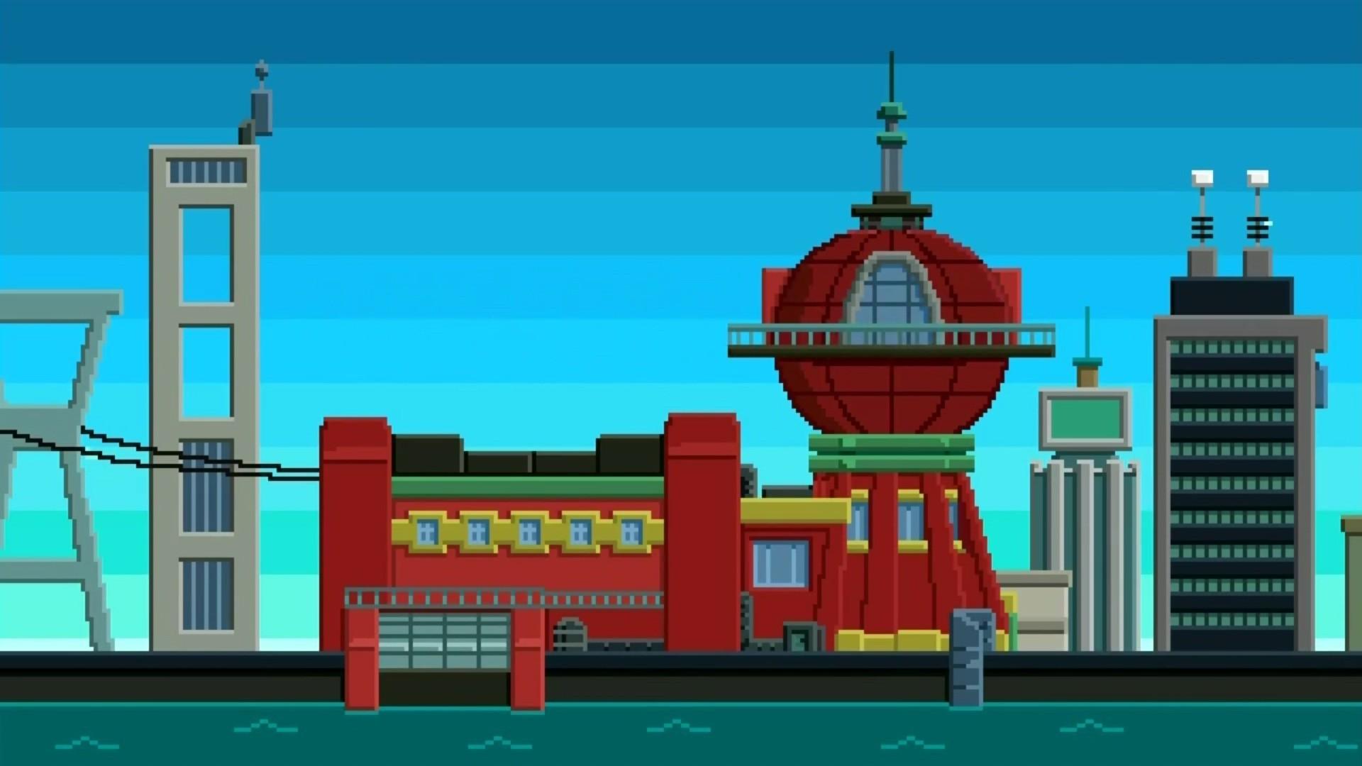 Futurama, Planet Express, 8 bit Wallpapers HD / Desktop and Mobile  Backgrounds