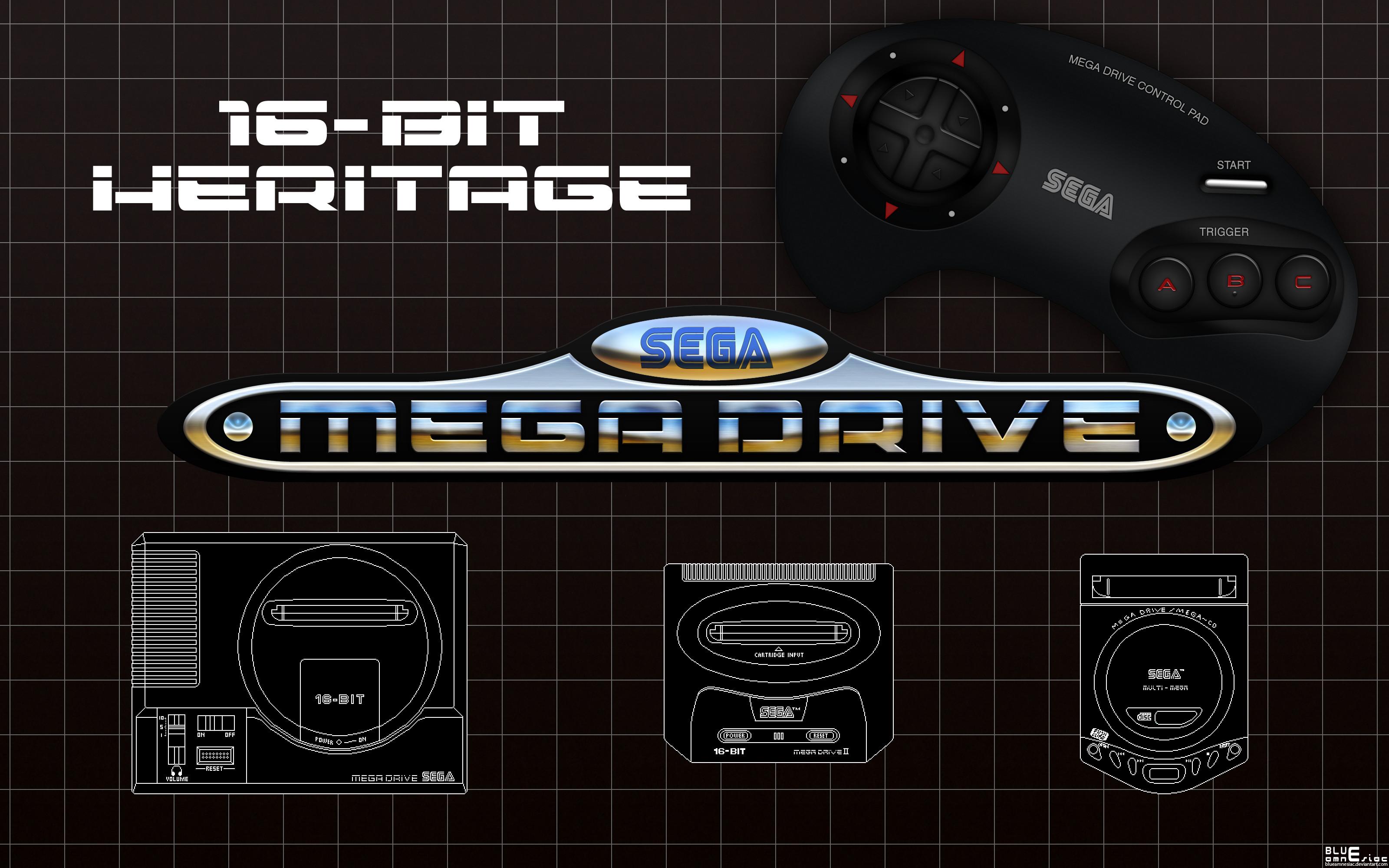 … Sega Mega Drive: 16-bit Heritage Wallpaper by BLUEamnesiac