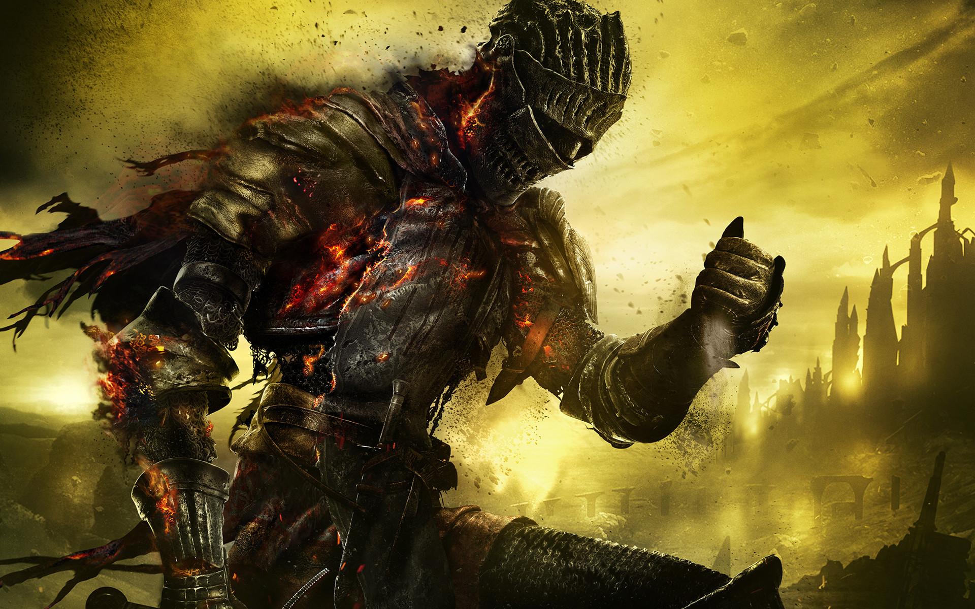 Dark Souls 3 Knight Burning Dust Wallpaper