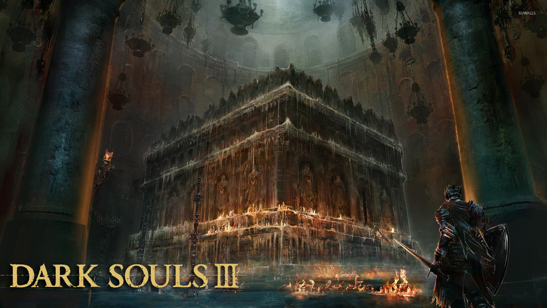 Altar in a church in Dark Souls III wallpaper