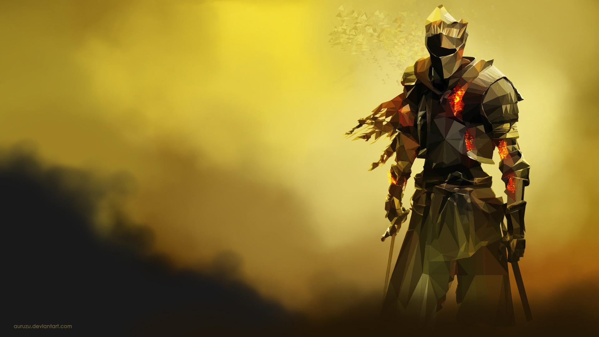 … Dark Souls 3 Polygon Wallpaper by Auruzu
