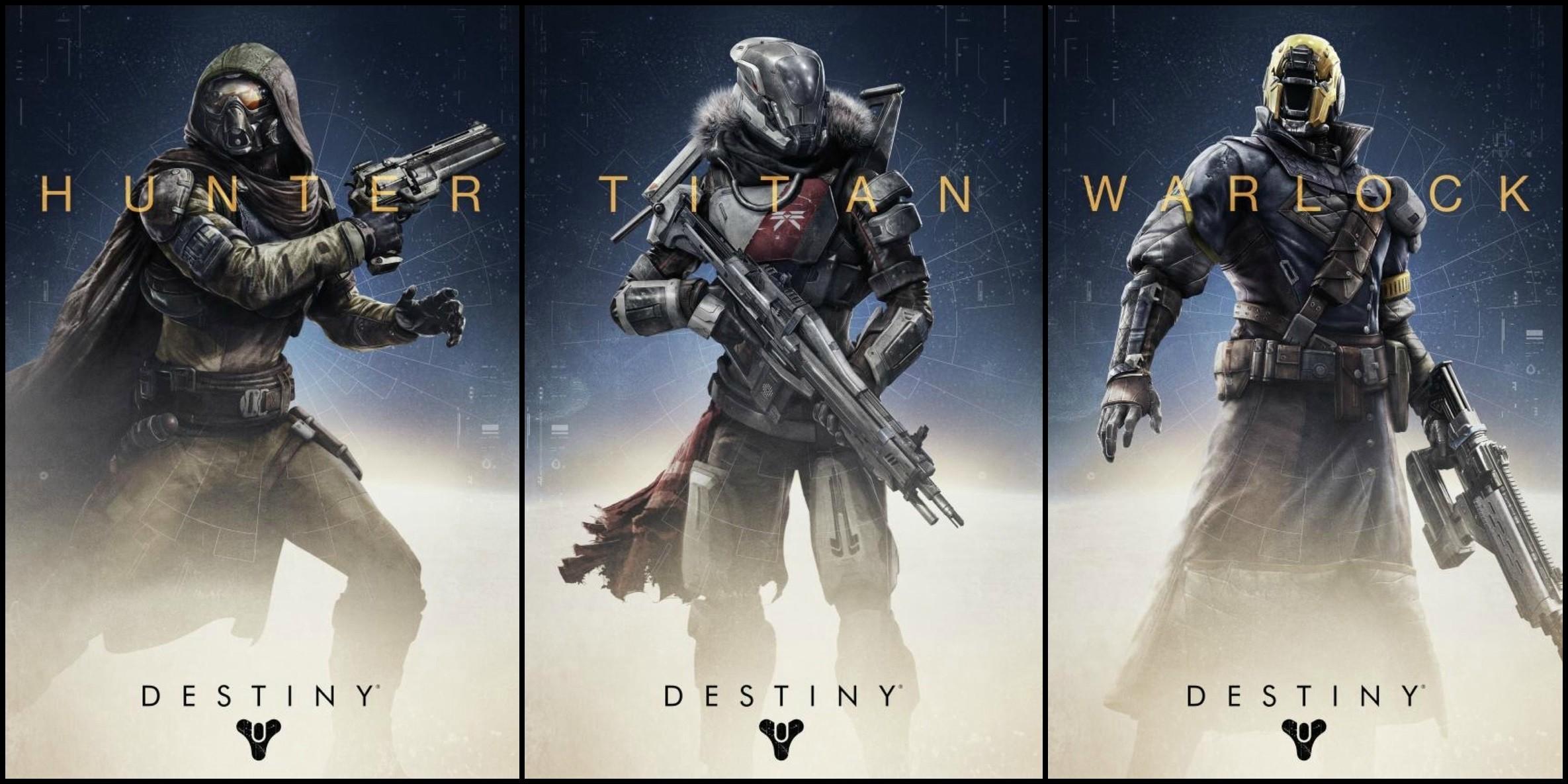 Hunter-Titan-and-Warlock-on-Destiny-Game-2014-