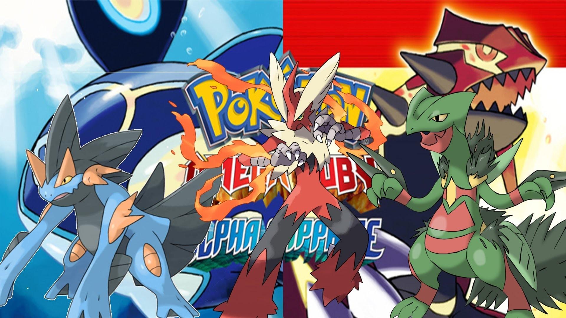 Video Game РPok̩mon Omega Ruby and Alpha Sapphire Swampert (Pok̩mon)  Blaziken (Pok̩mon
