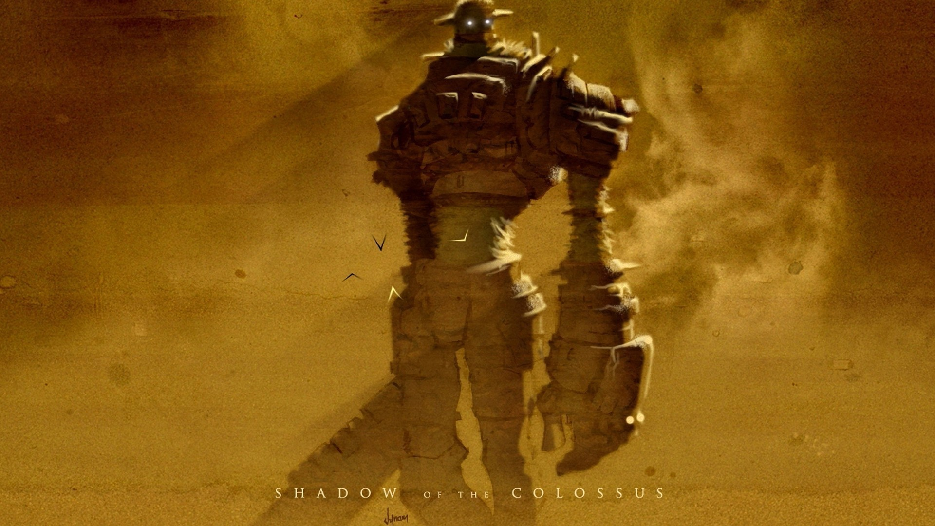 The colossus in the game Shadow of the Colossus