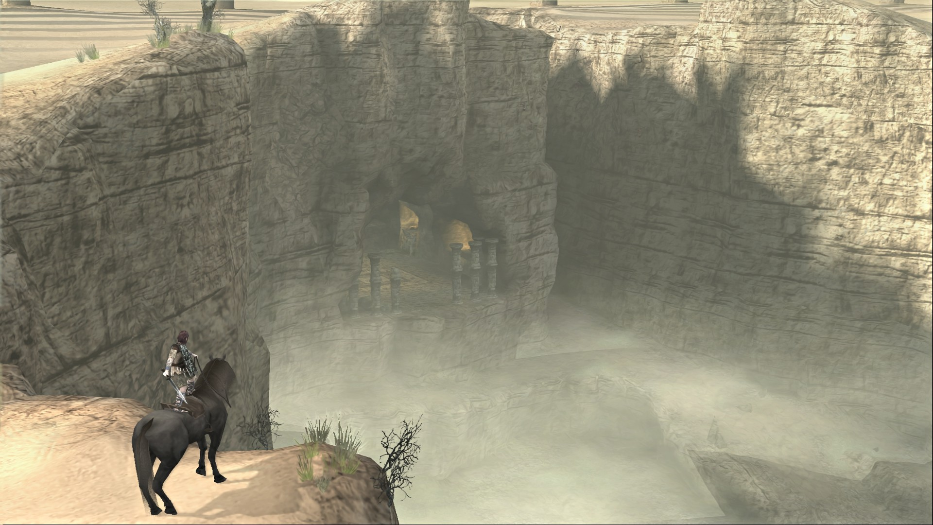 Celosia's canyon altar. It must have been a huge headache to move the  building materials