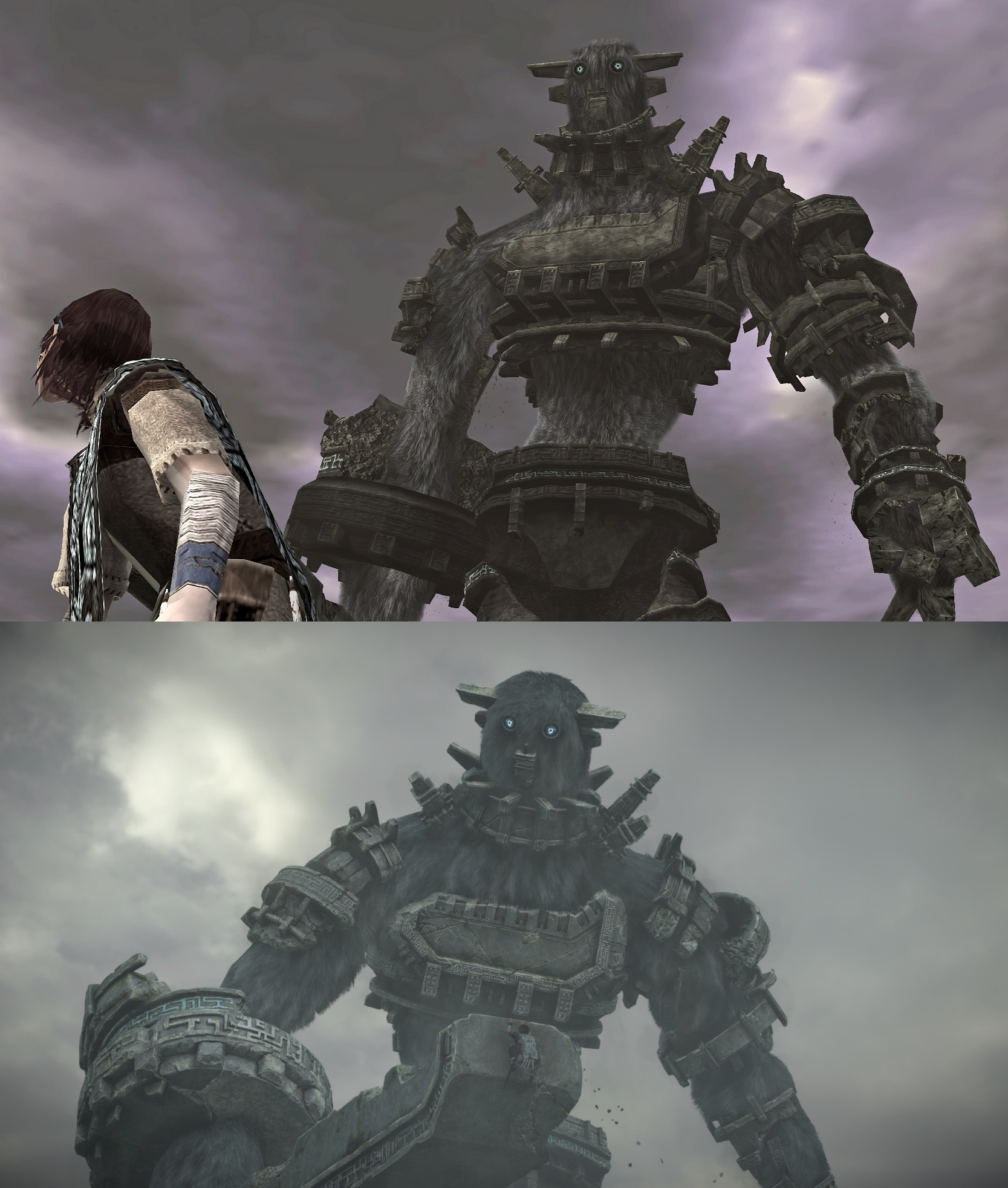 This is Gaius compared across PS3 and PS4 (PS3 was a straight HD port) …