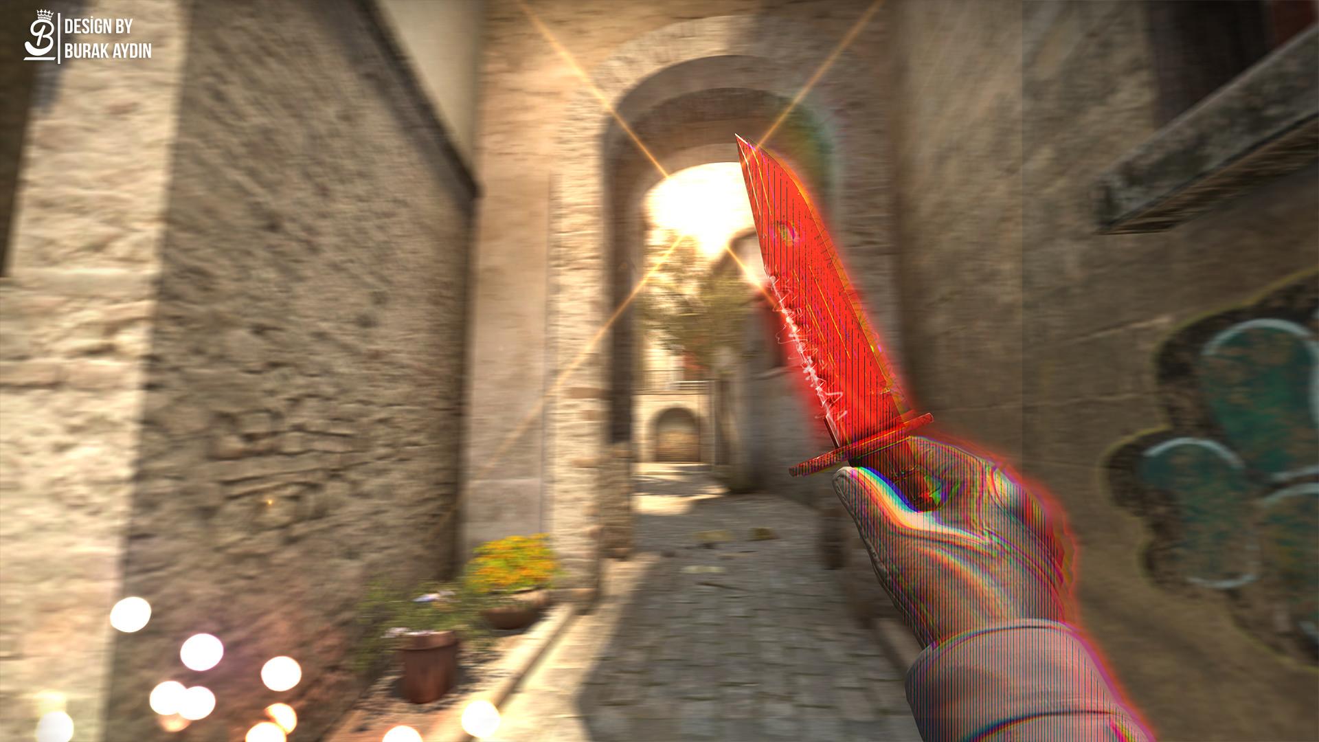 CS:GO – M9 Bayonet Crimson Web – 4K HD Wallpaper