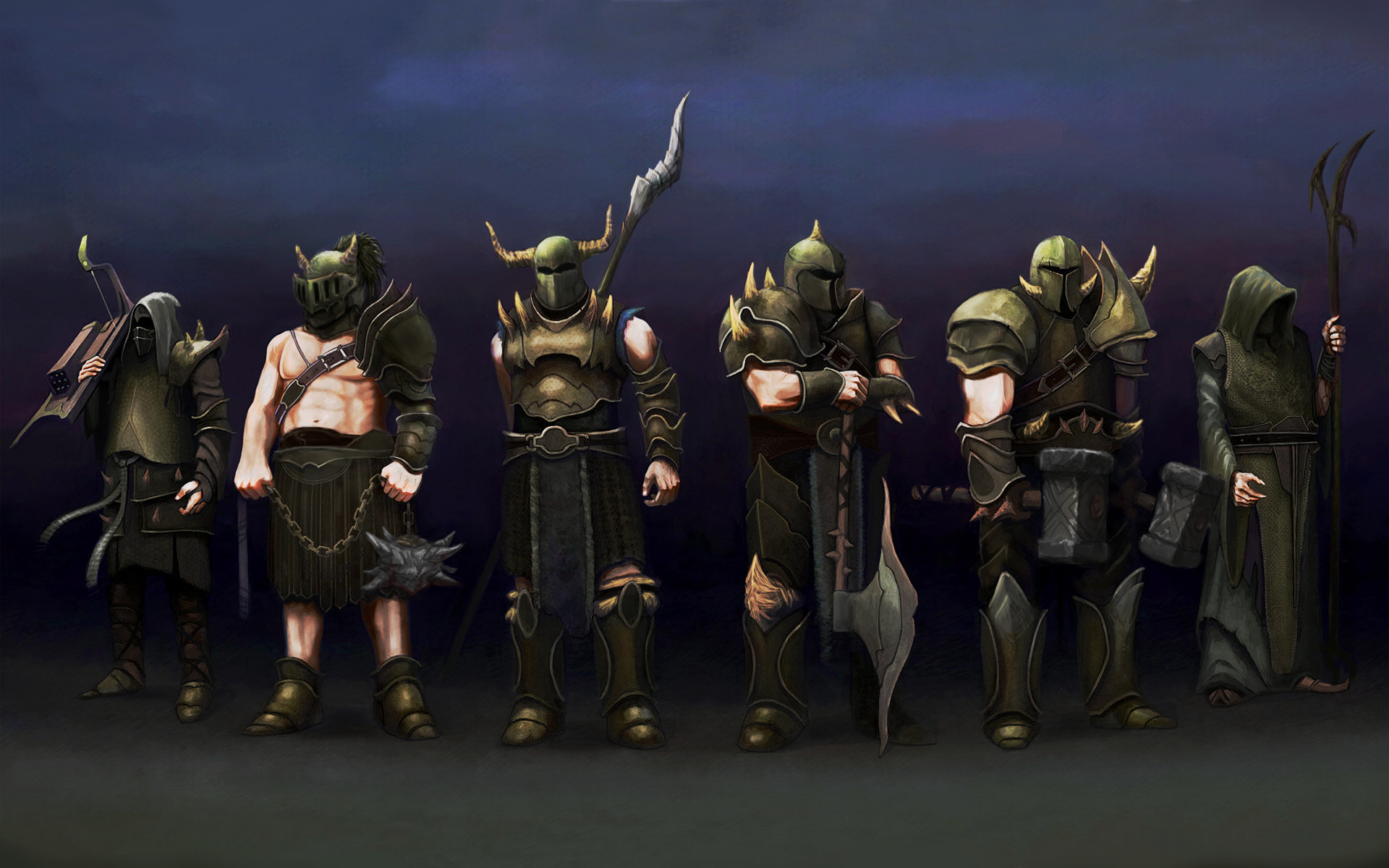 a bit more accurate Wallpaper of the Barrows Bros.