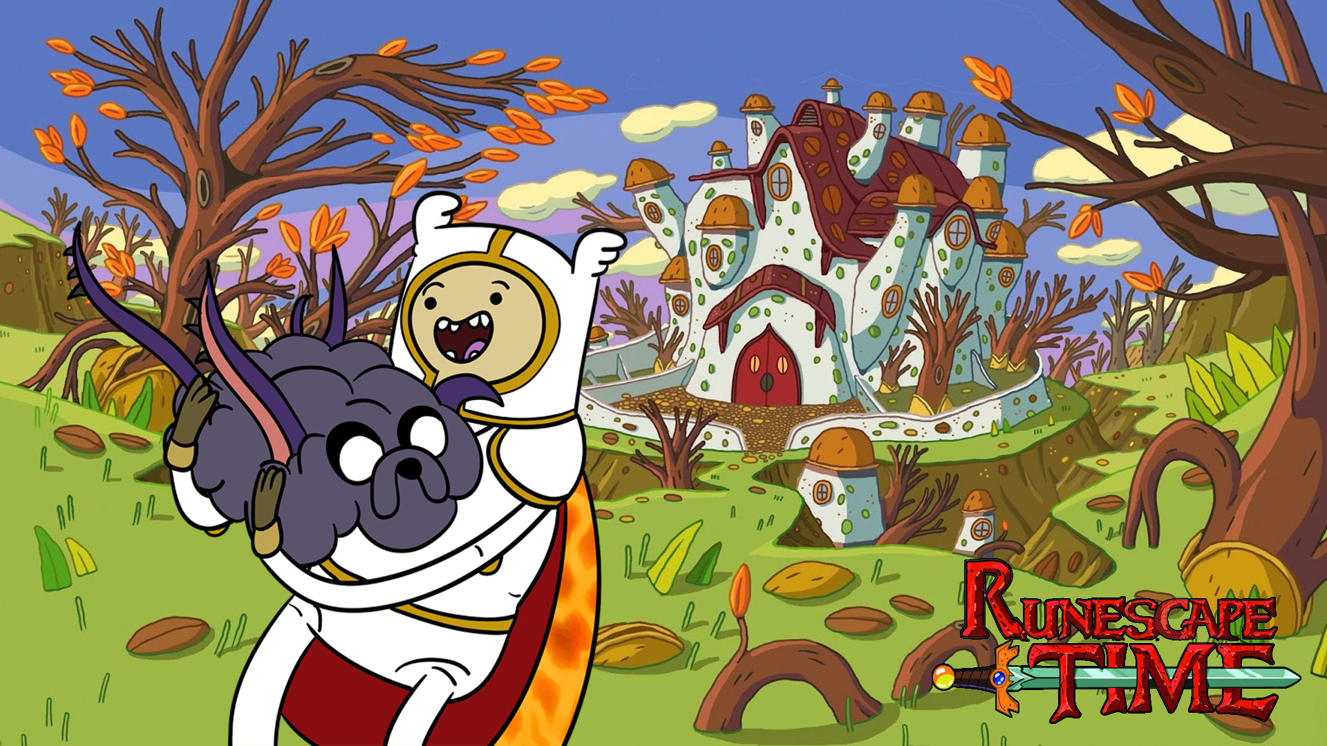 Adventure Time and Runescape #2 (Now in Wallpaper Form!)