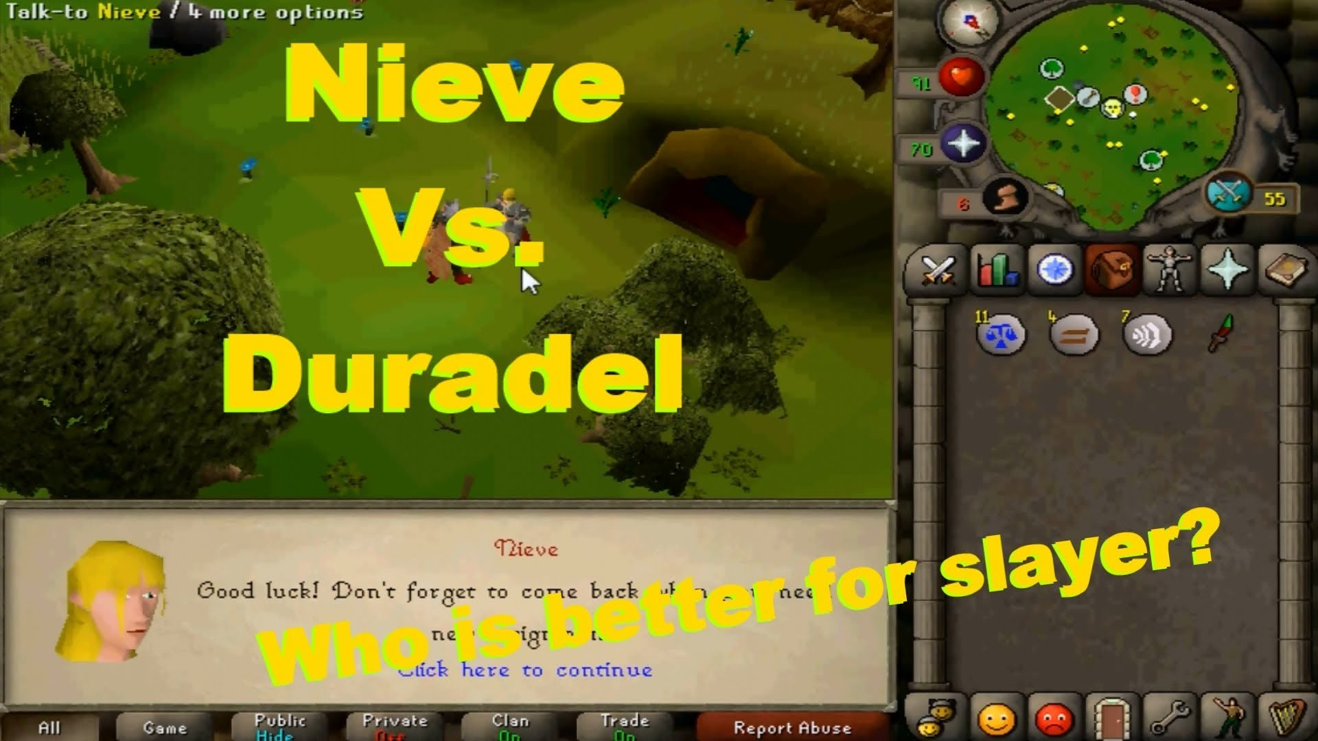 2007 Oldschool Runescape: Nieve Vs. Duradel (With Commentary) Which Slayer  Master is Better? – YouTube