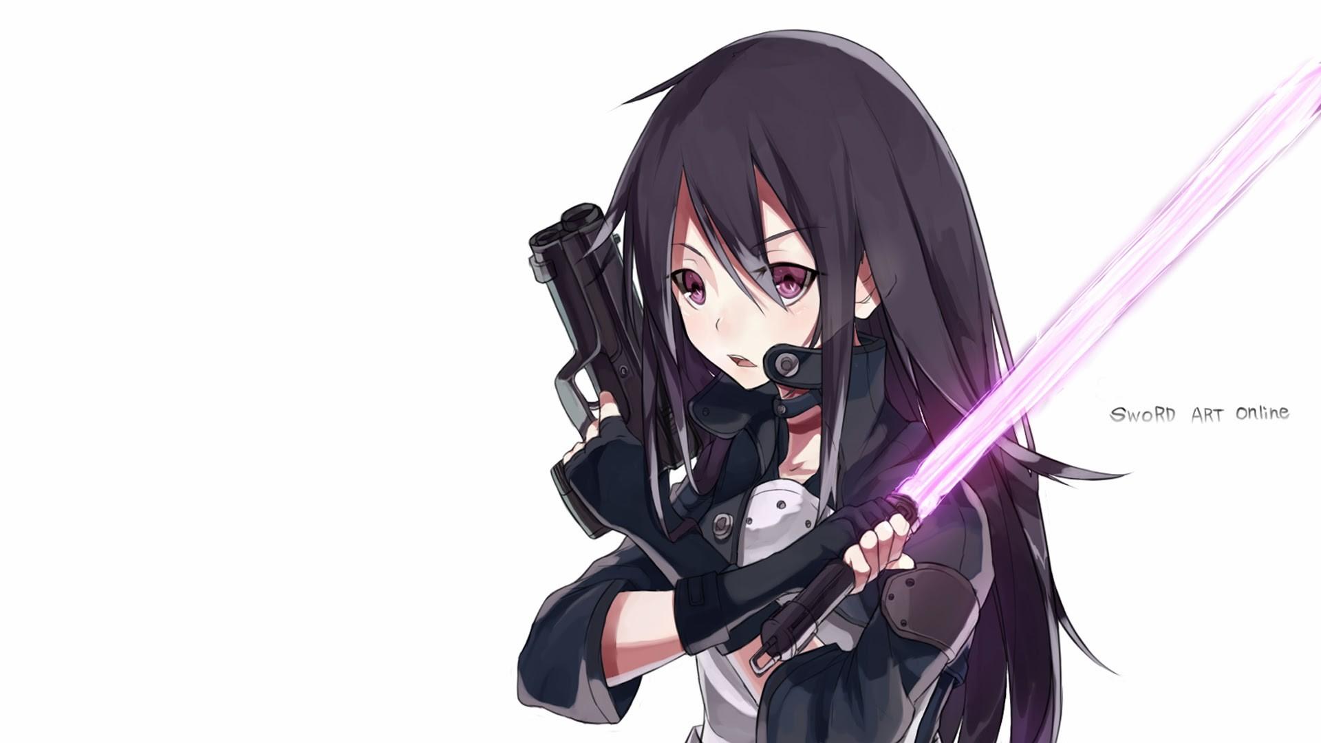 kirito gun gale online sword art online 2 phantom bullet arc anime hd .