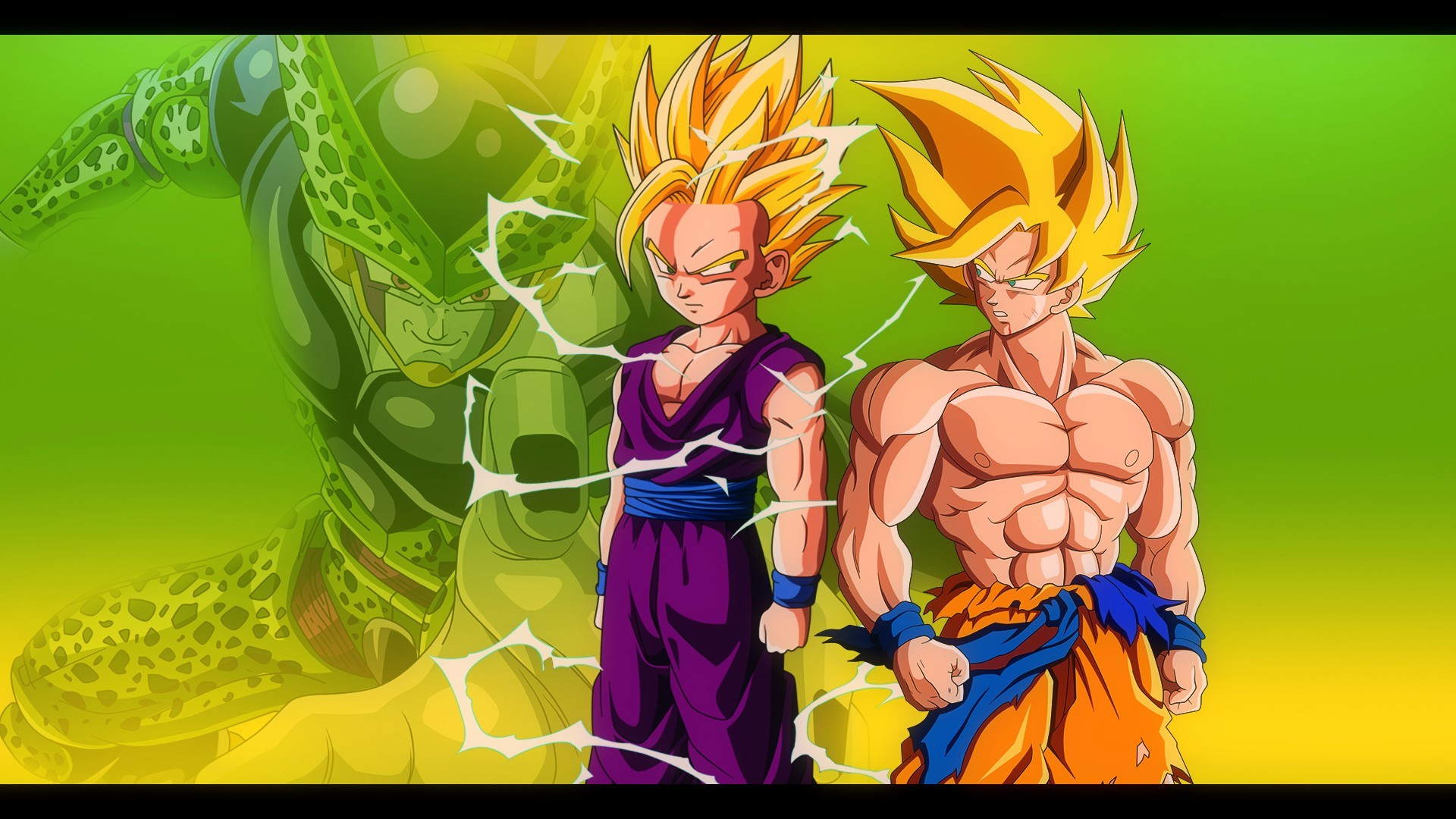 Goku and Gohan vs Cell – DBZ Wallpaper 1920*1080 by Oirigns on .