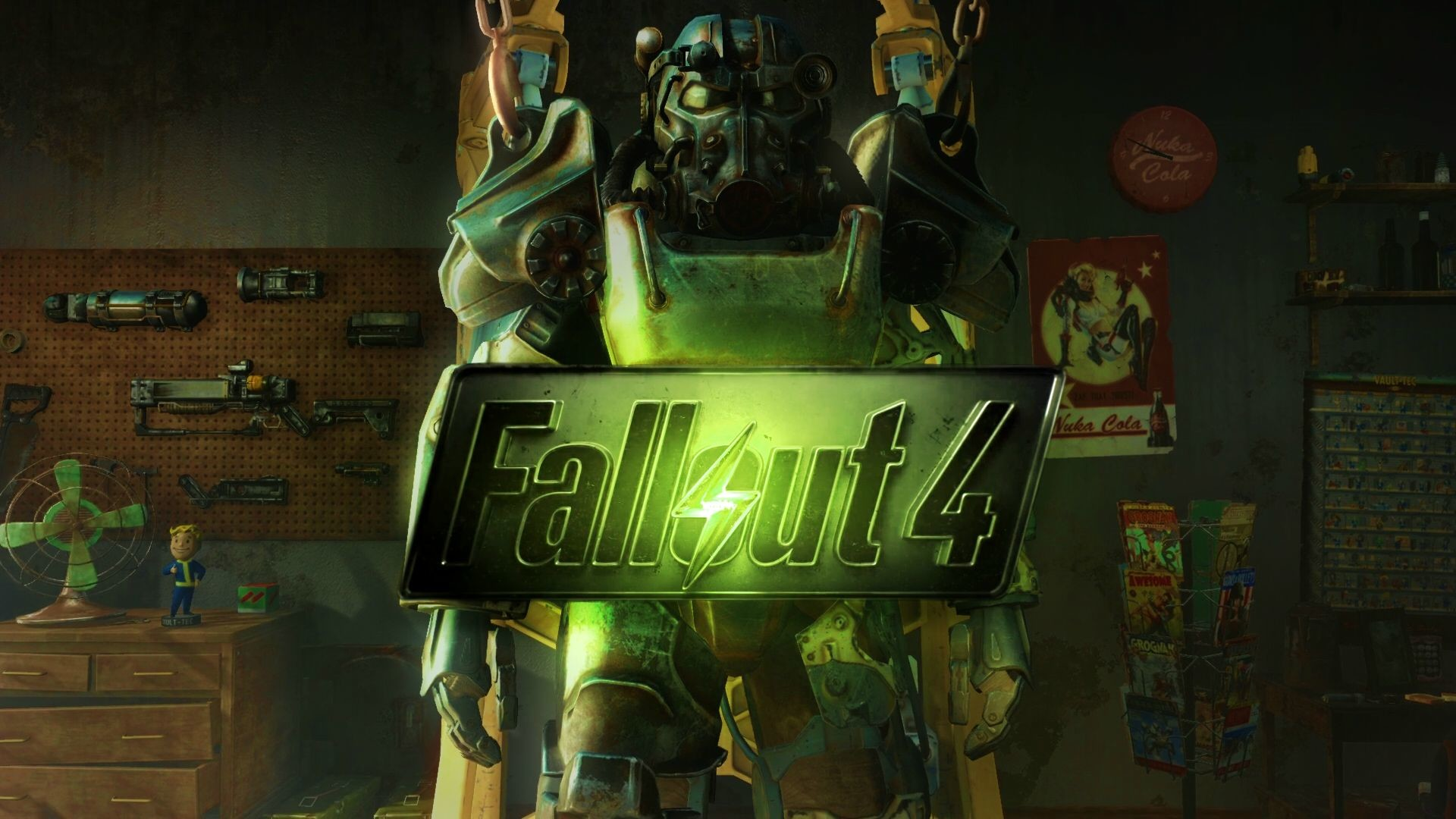 Fallout 4 Desktop Wallpaper Weapons back