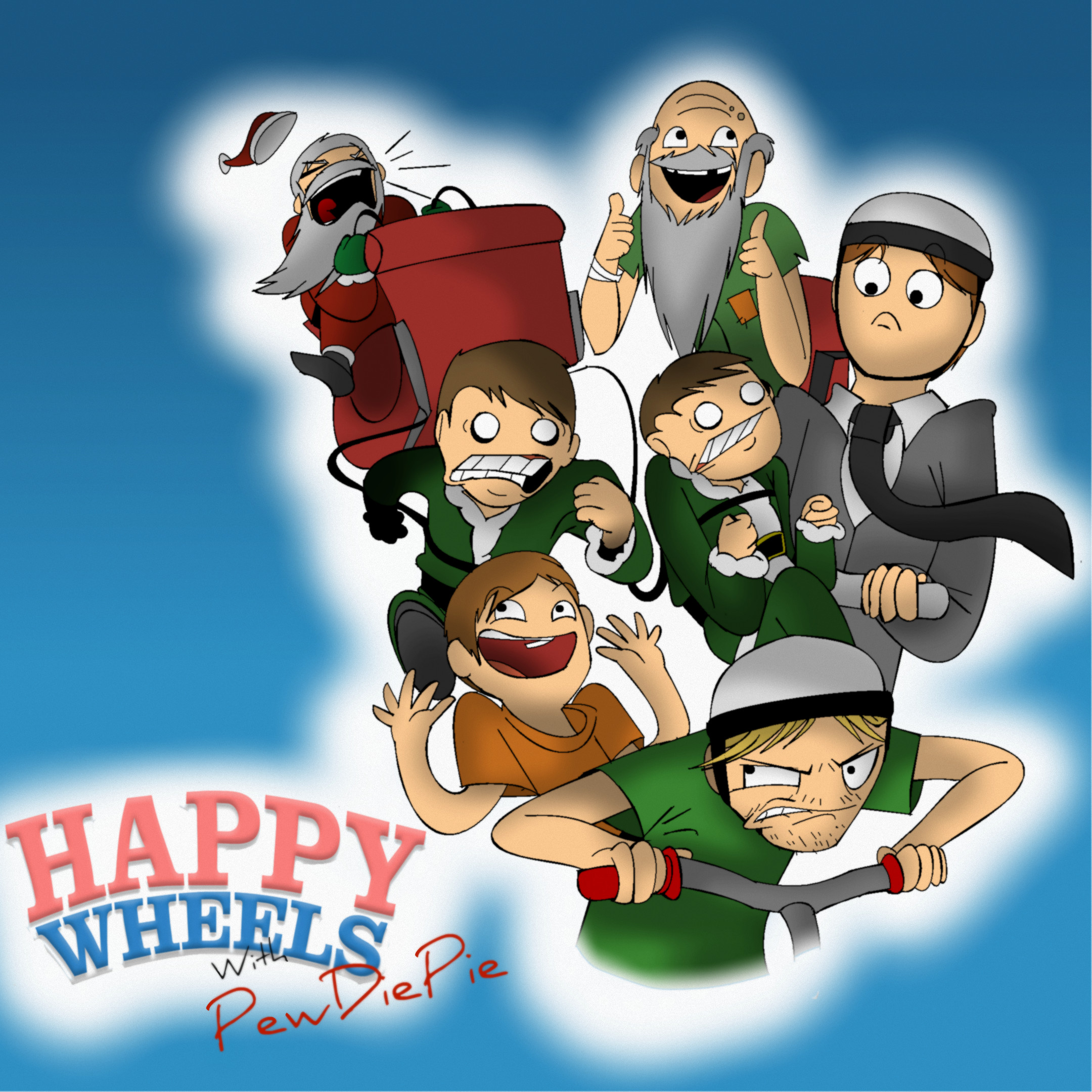 Happy Wheels With PewDiePie by PolisBil Happy Wheels With PewDiePie by  PolisBil
