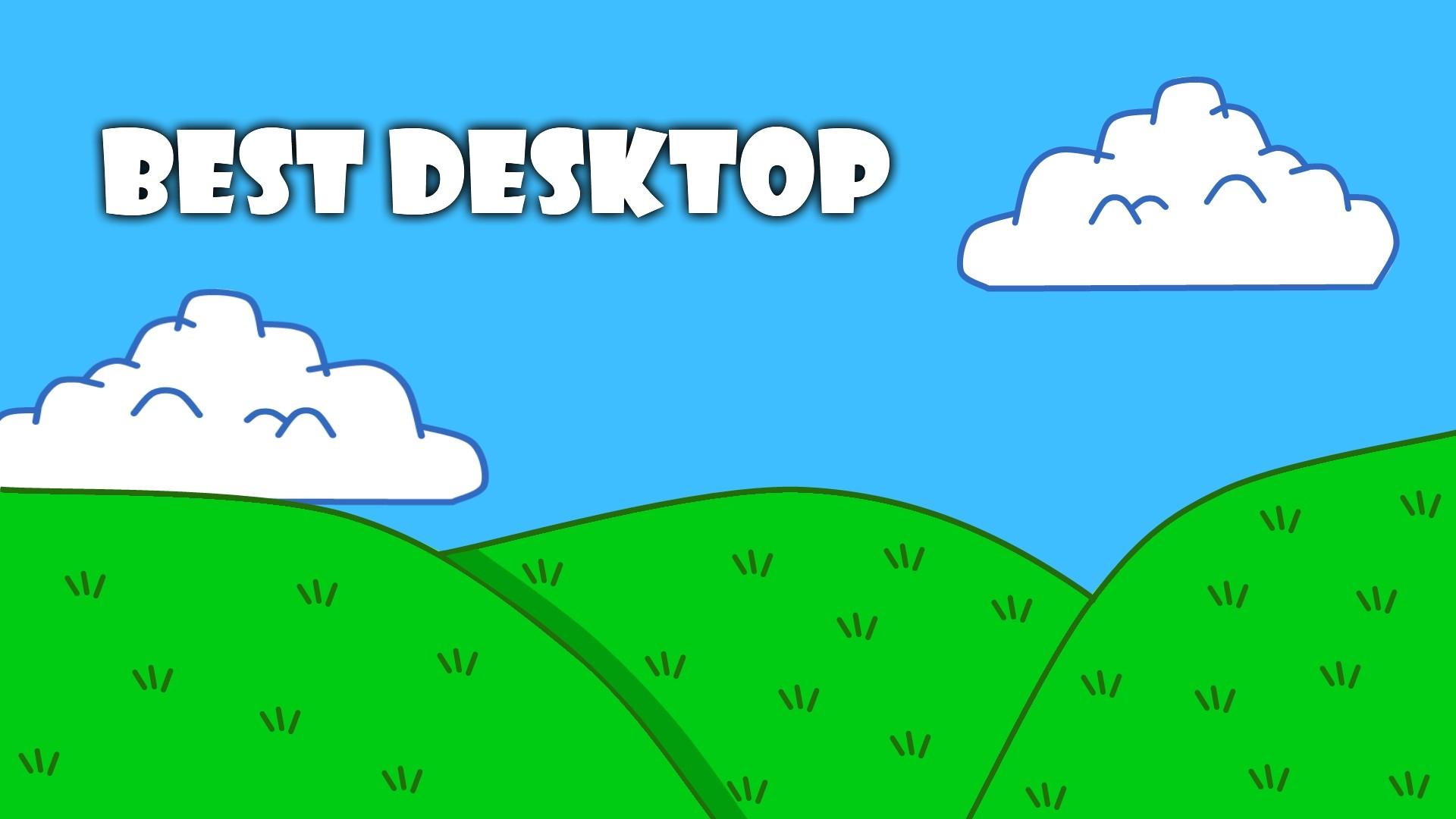 … Cartoon Wallpaper with text Best Desktop by PetrHonc
