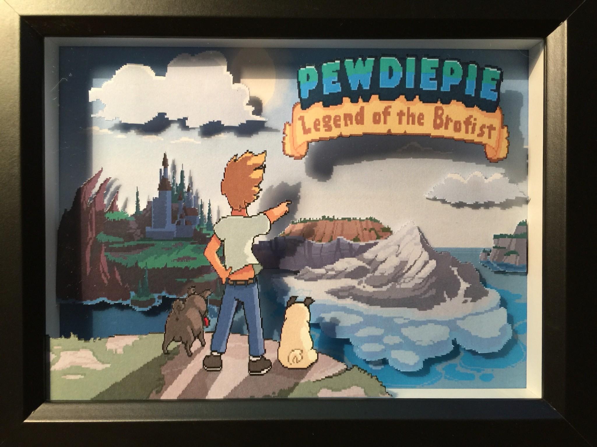 Pewdiepie Legend of the Brofist Diorama