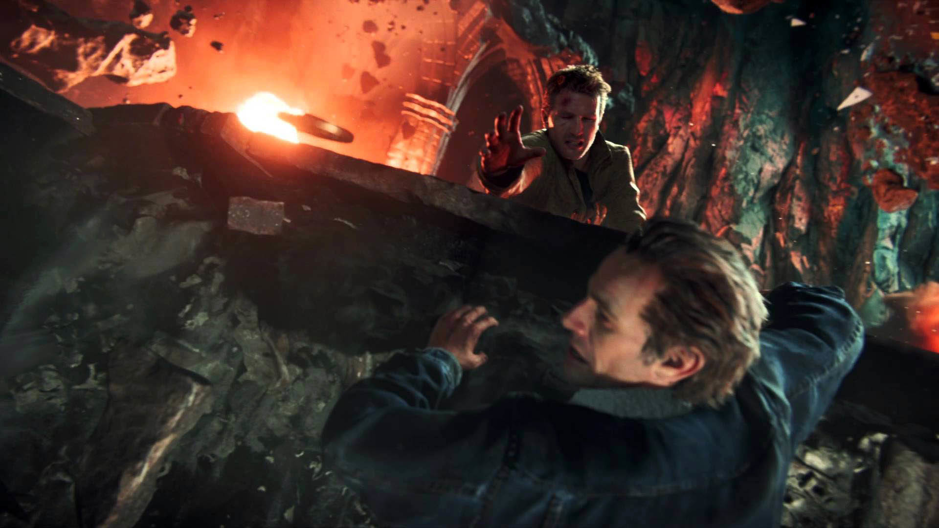 Uncharted 4: A Thief's End – Explosive Scene wallpaper