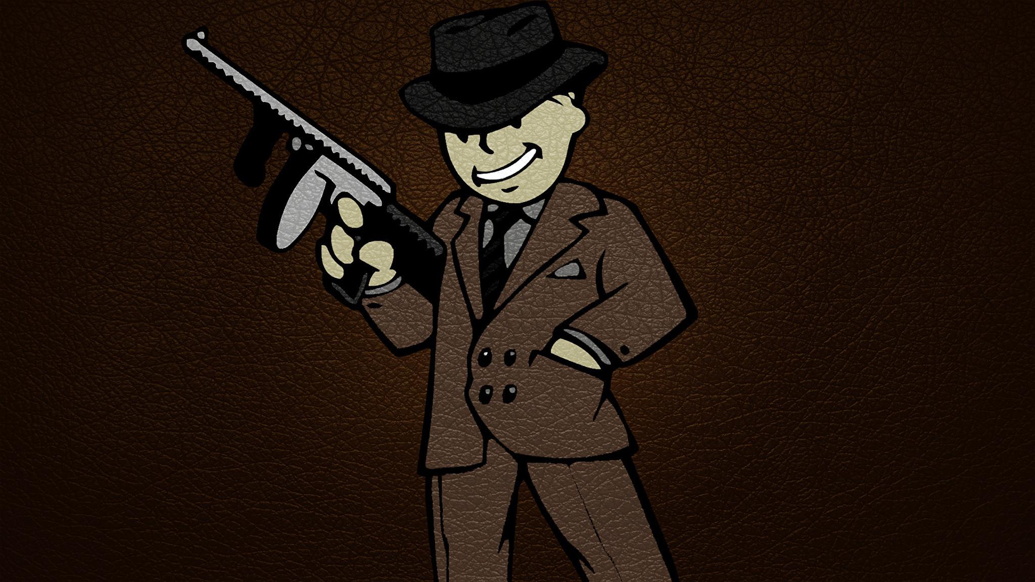Photos Fallout Assault rifle vault boy Hat Games Costume 2048×1152
