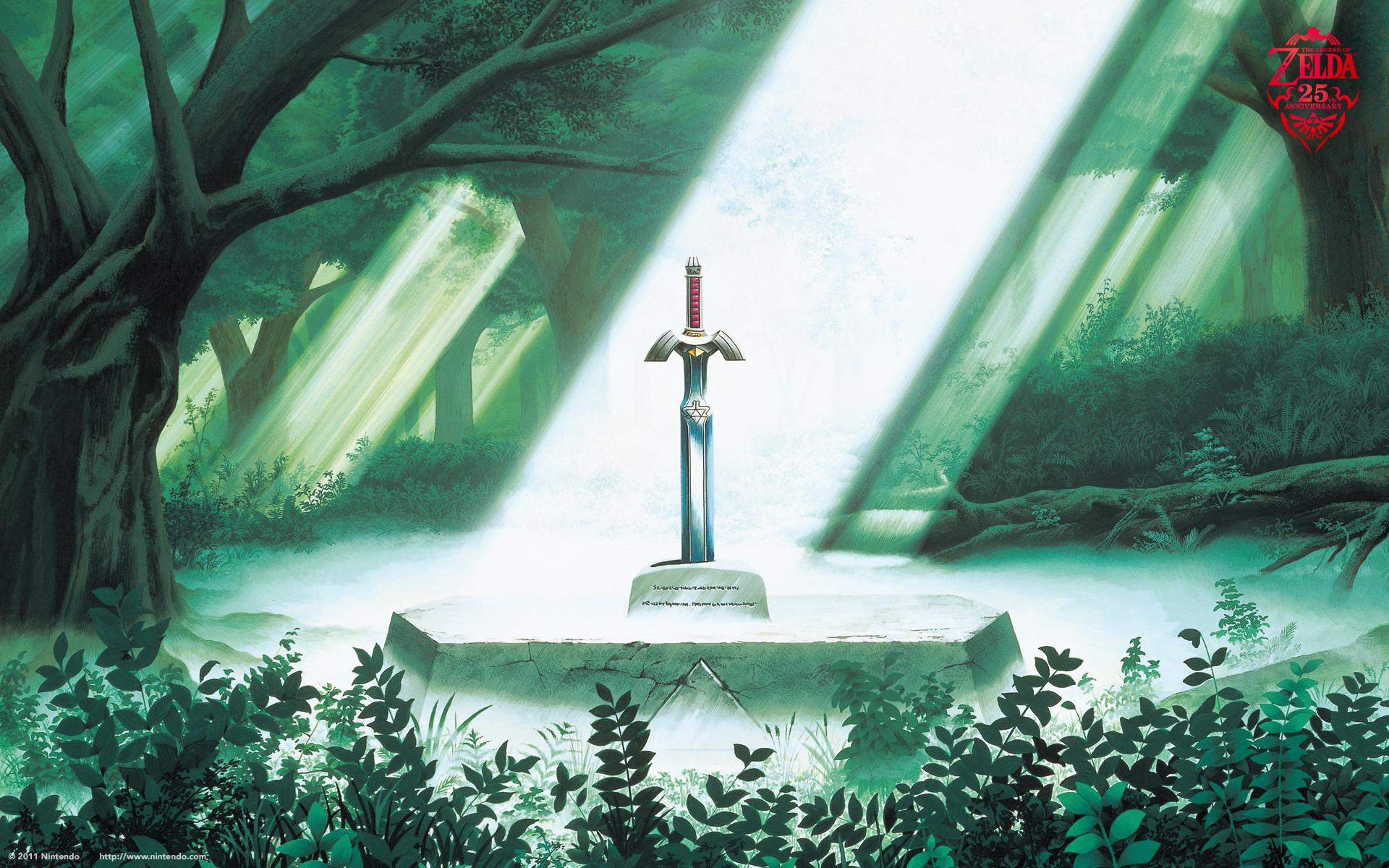 The Legend of Zelda Wallpaper (Link to the Past) – The Master Sword Rests