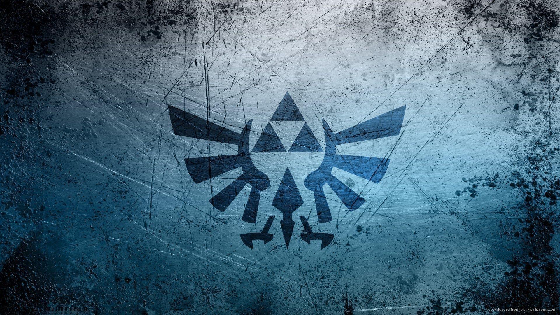 Download The Legend Of Zelda Grunge Logo Wallpaper