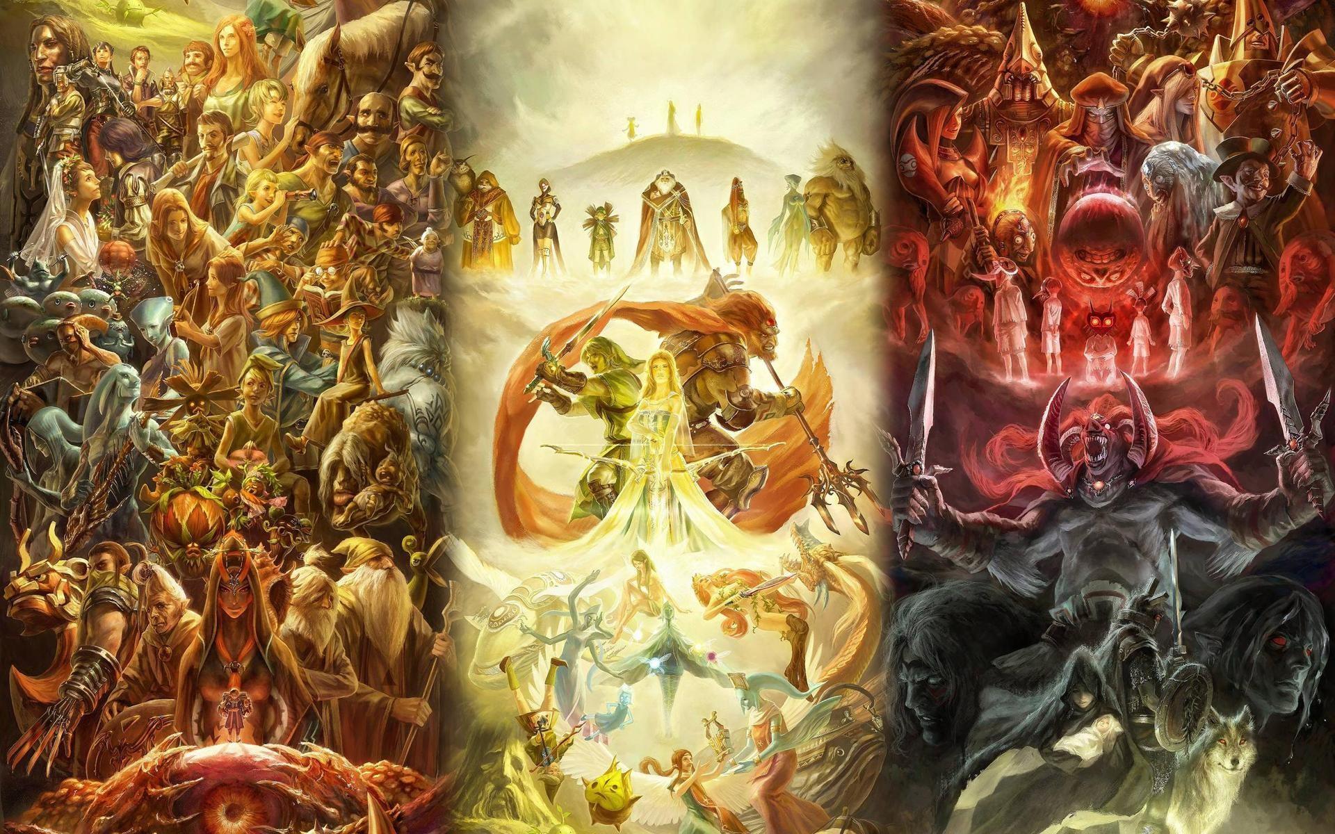 The Legend of Zelda' 25th Anniversary Art Gallery …