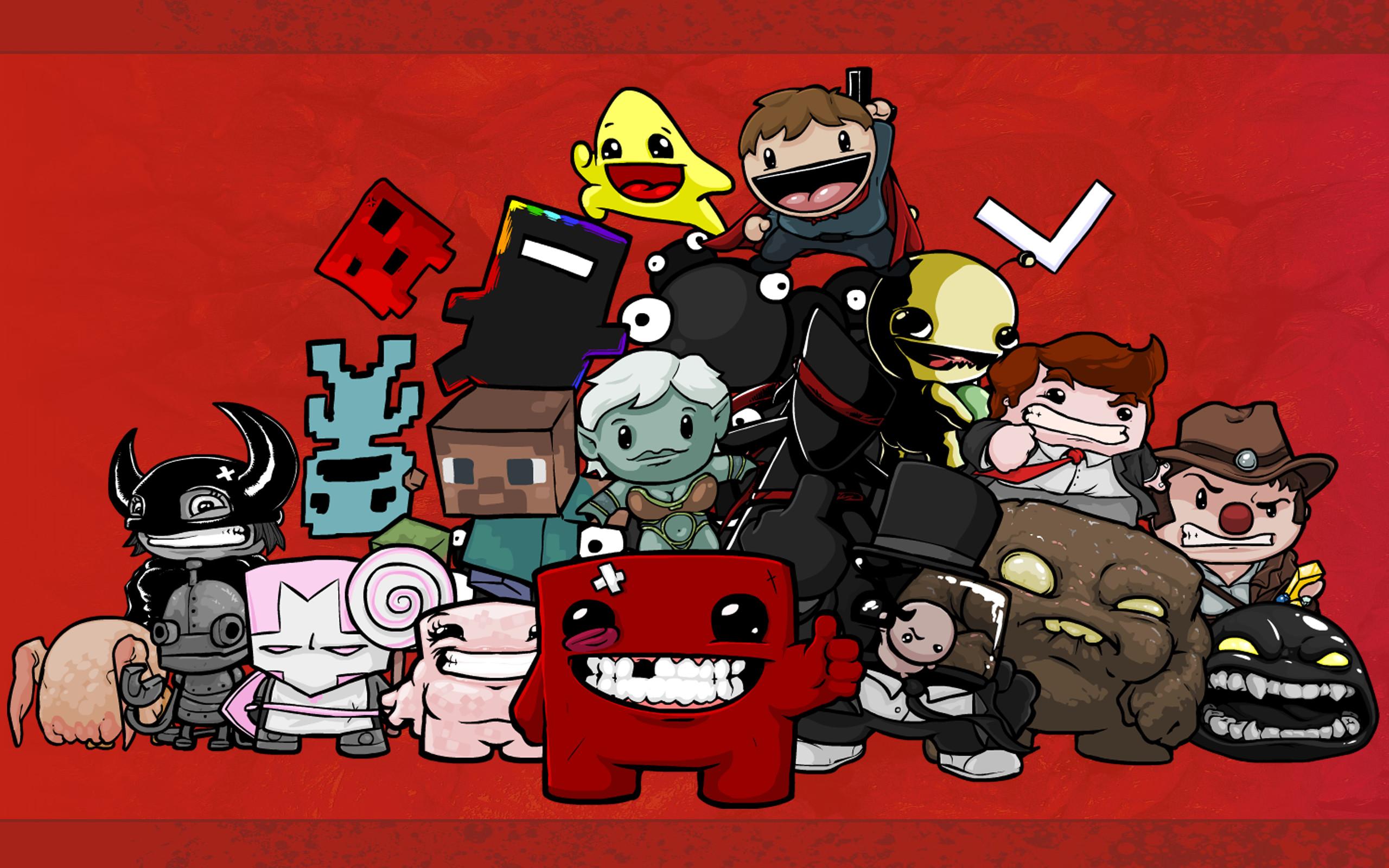 Castle Crashers, Minecraft, Headcrab, Super Meat Boy, VVVVVV – Free  Wallpaper / WallpaperJam.com