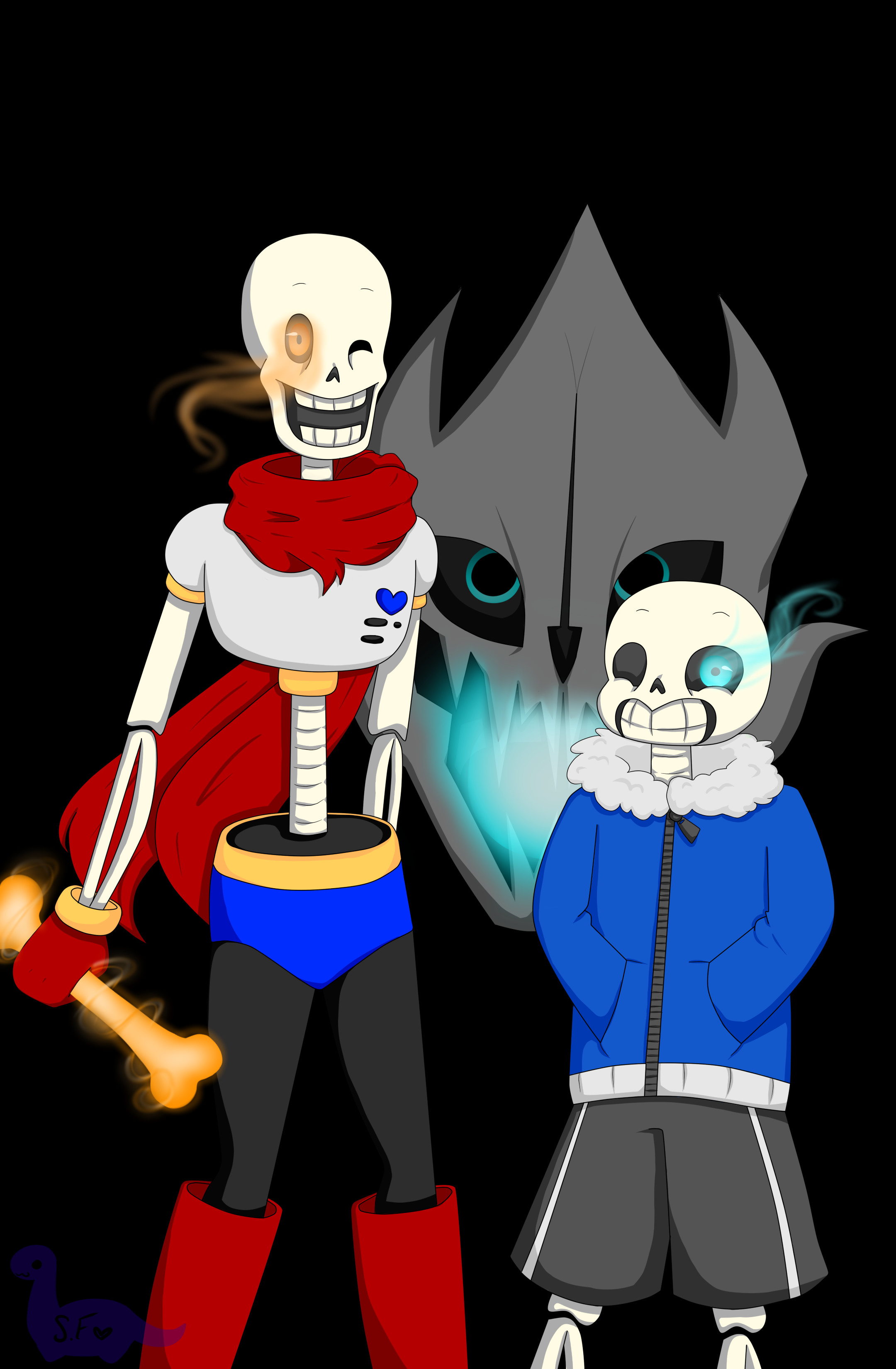 … Sans And Papyrus Wallpaper by Sarah-forstie