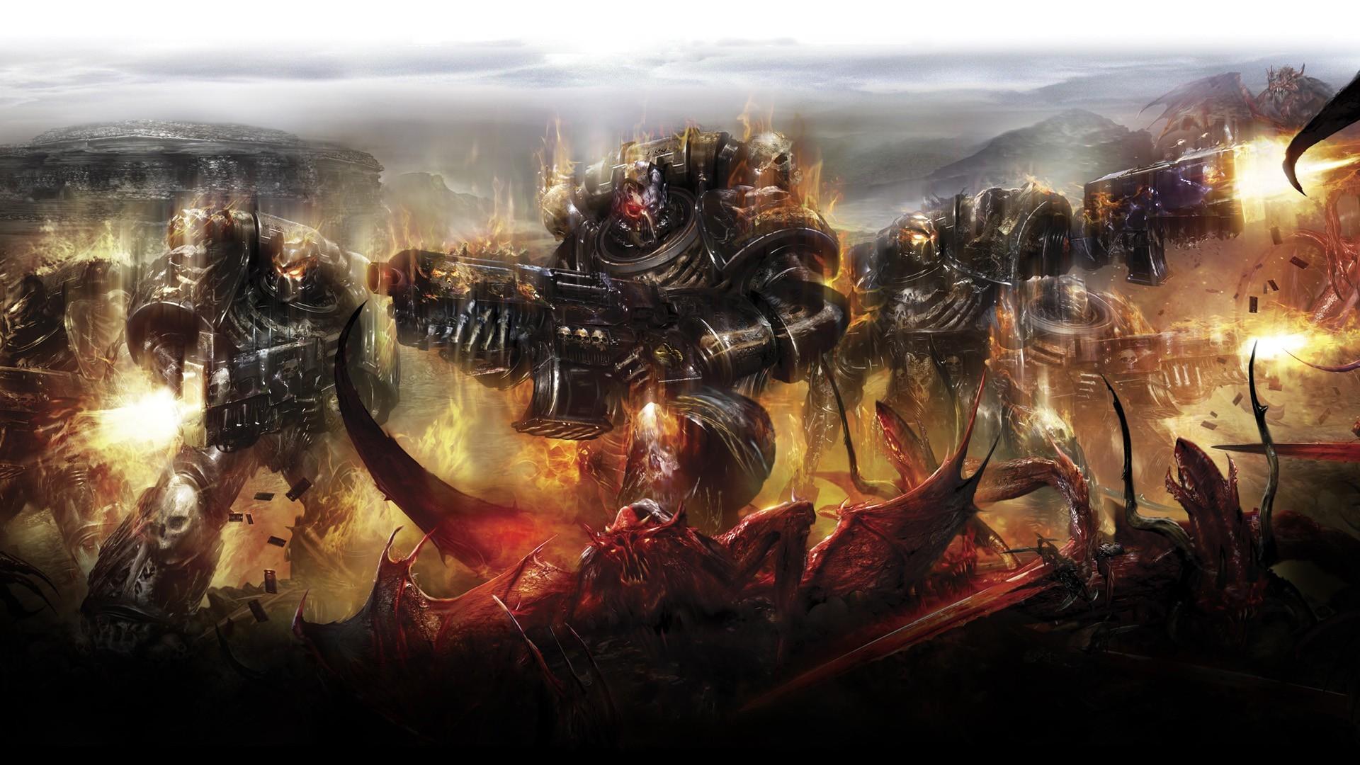 Warhammer 40K Wallpaper Warhammer, 40K, Chaos, Space, Marine