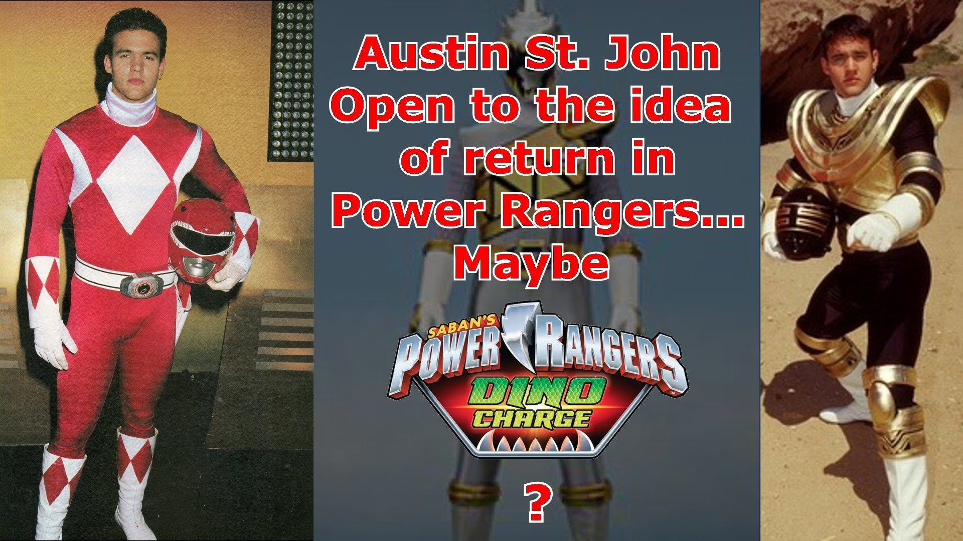 Austin St. John Open to the idea of return in Power Rangers… Maybe Dino  Charge? – YouTube