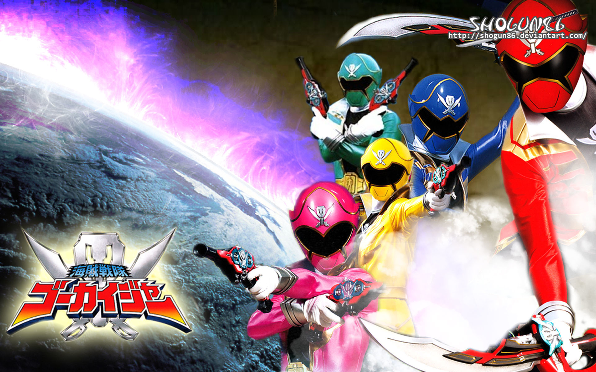 Gokaiger First Appearance All Red Sentai   Super Sentai / Power Rangers    Pinterest   Mighty morphin power rangers