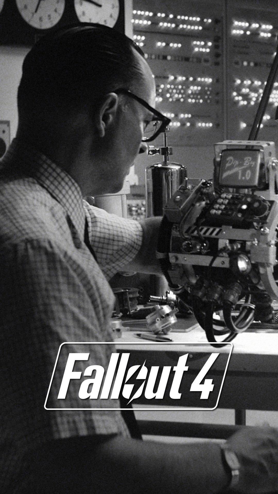 I made some Fallout 4 lock screen wallpapers from E3 stills