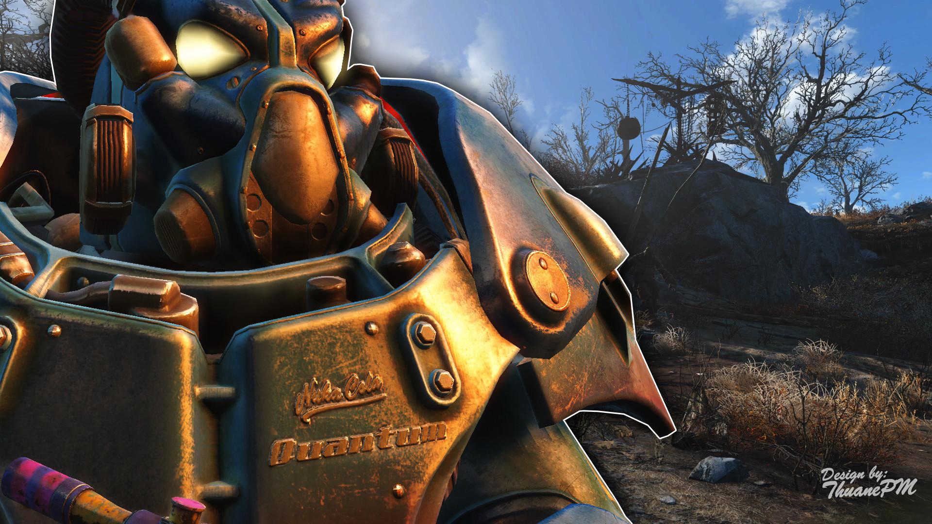 … Fallout 4 Wallpaper – Nuka-Cola Quantum PowerArmor by ThuanePM
